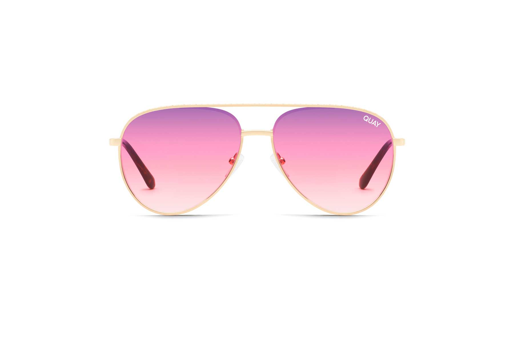 Quay Pink and Purple Sunglasses in Aviator style