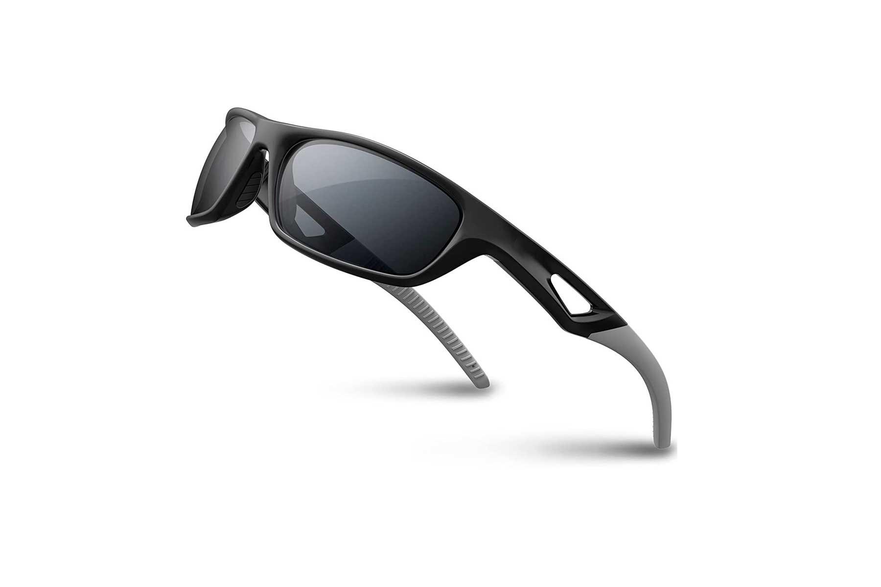 RIVBOS sunglasses in a black and silver sport style