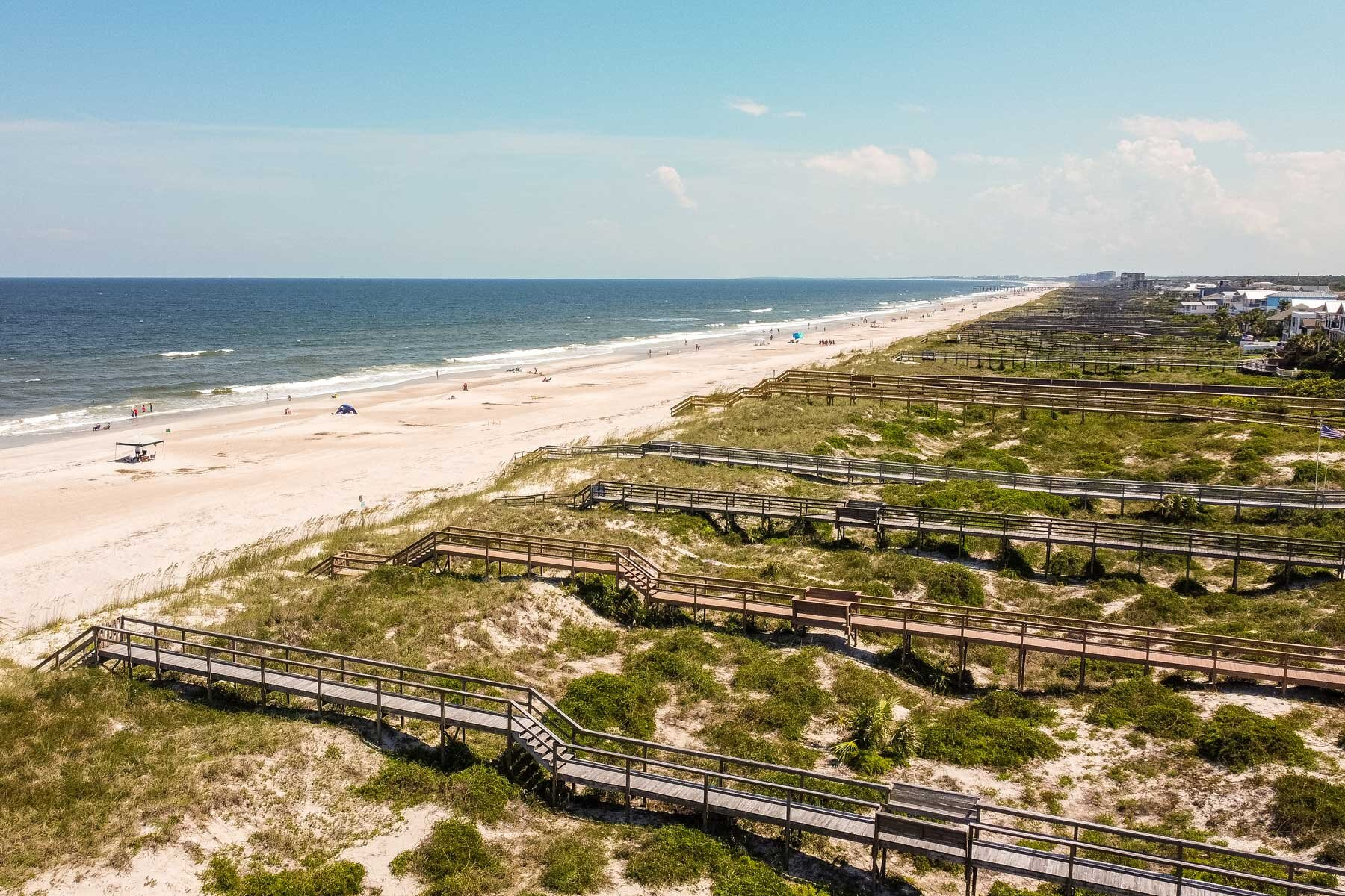 Aerial view looking southeast on Amelia Island, Florida.