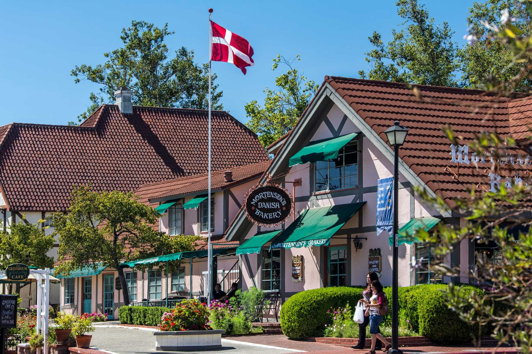 Street view of Solvang, Danish Town, California
