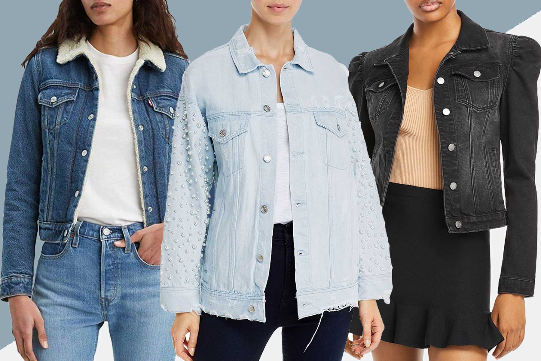 Denim jackets from Amazon and Bloomingdales