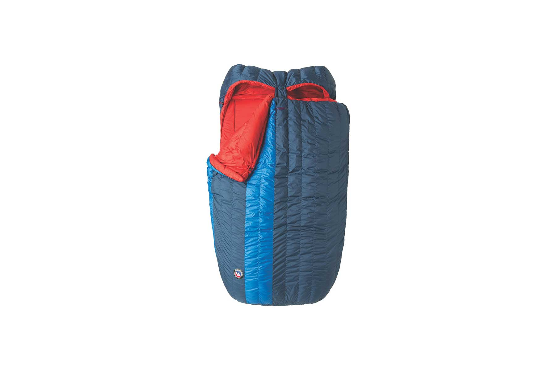 A double sleeping bag for two people
