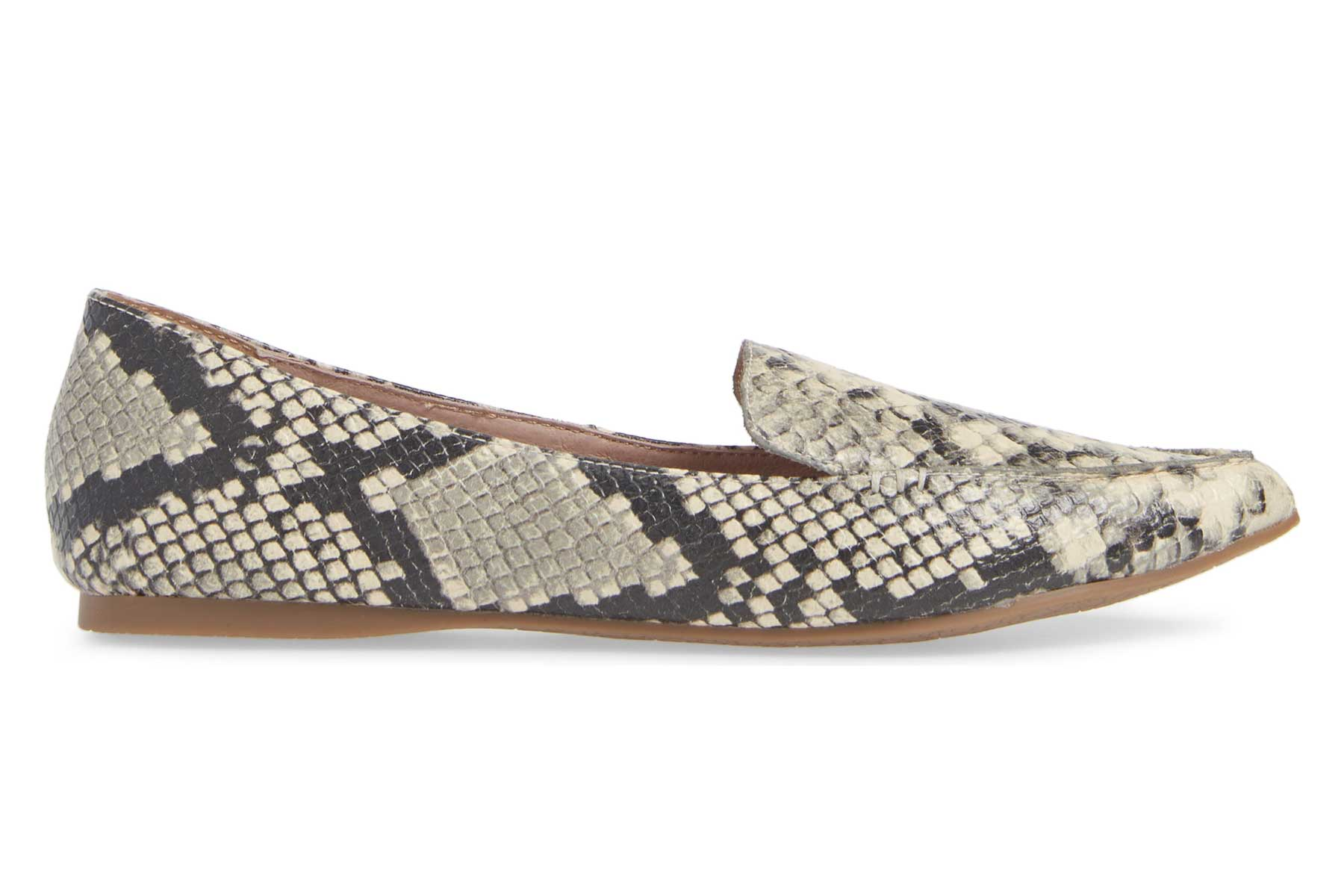 Steve Madden snakeskin Feather Loafer
