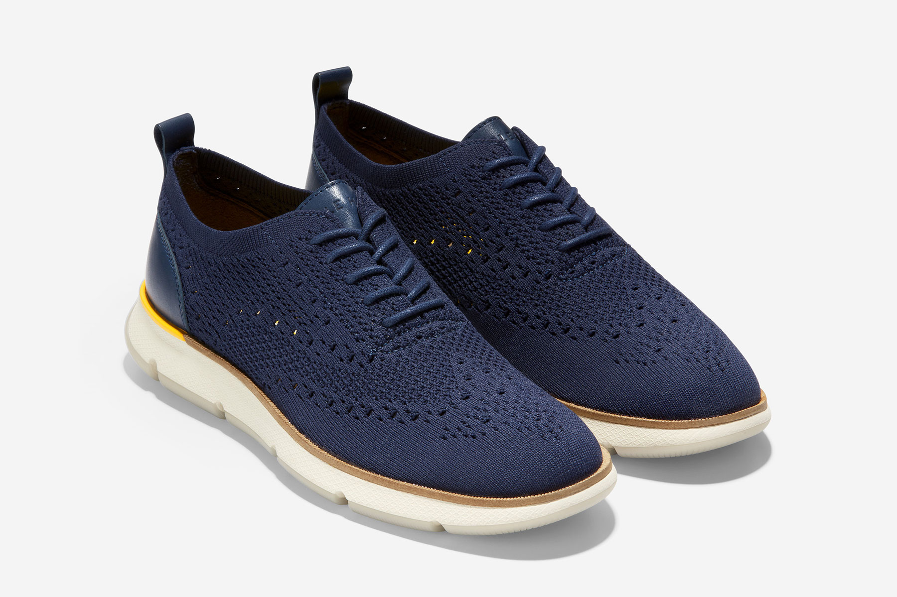 Women's navy oxford knit shoes