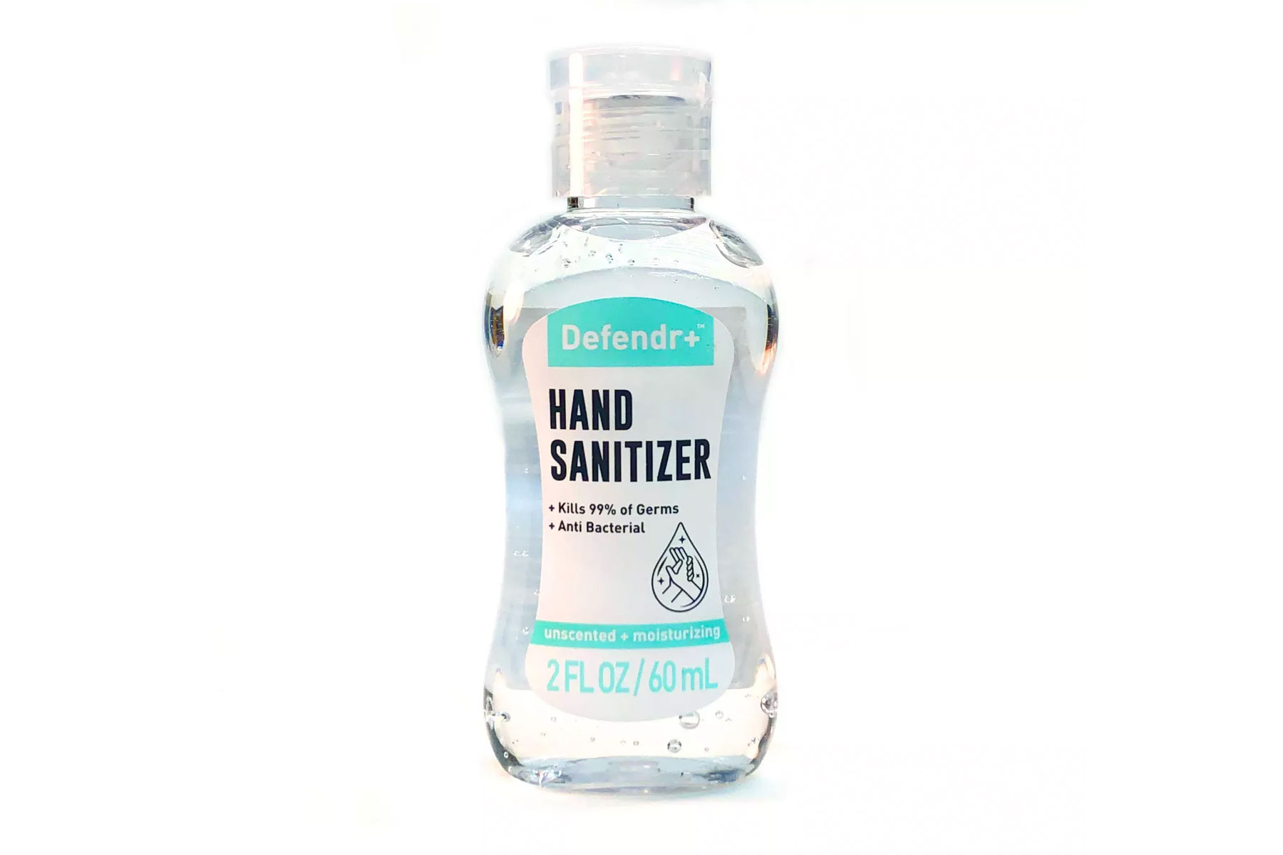 Clear bottle of Hand Sanitizer