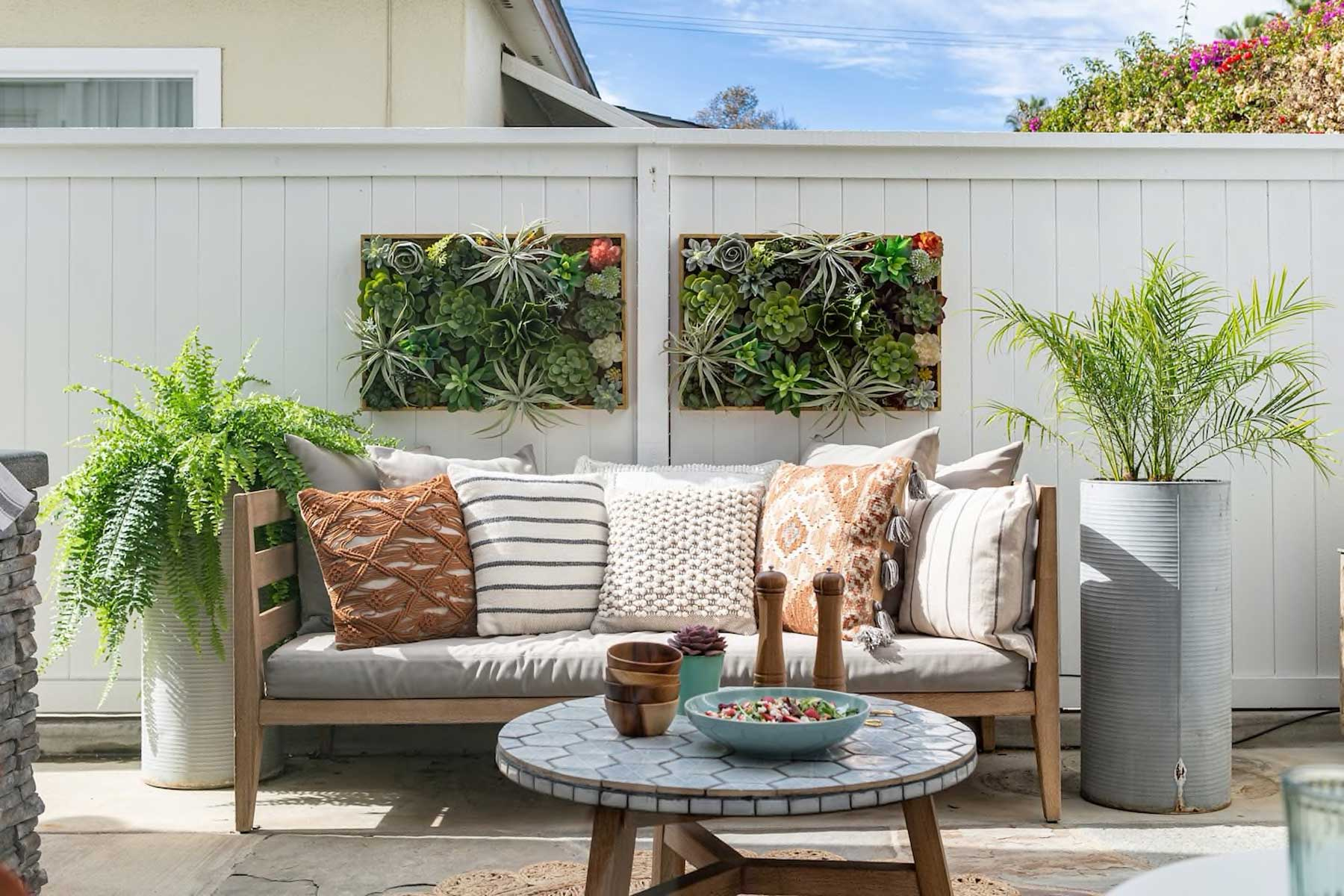 Outdoor patio of Jasmine Roth's California Home