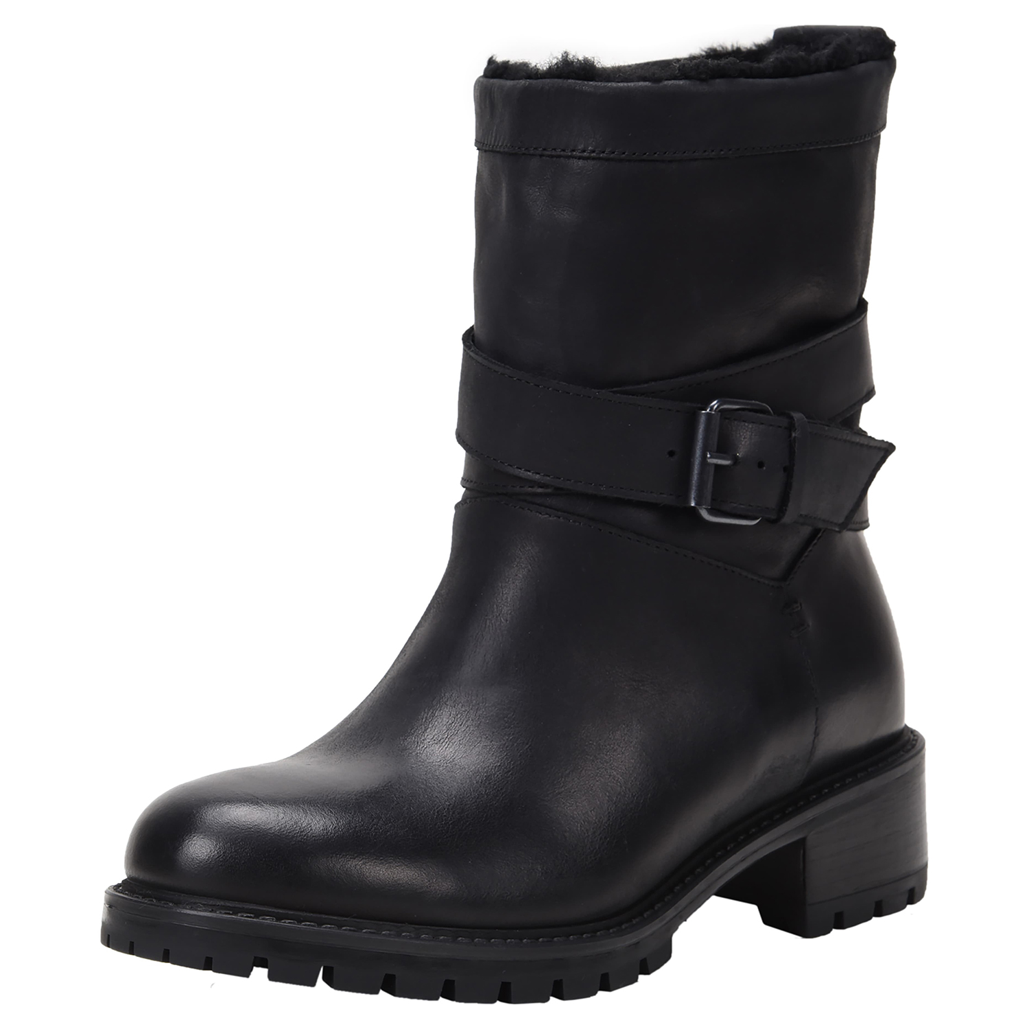 Best Stylish Option: Ross & Snow Women's Genuine Shearling Lined Moto Boots
