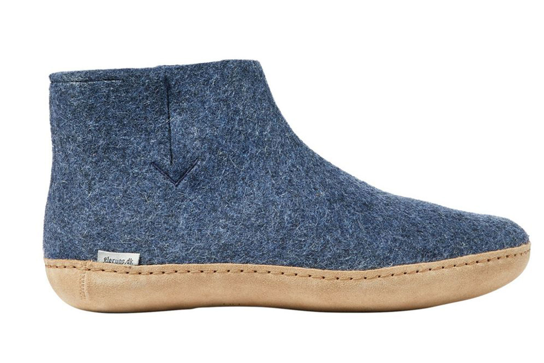 Glerups Natural Wool Boot Slippers