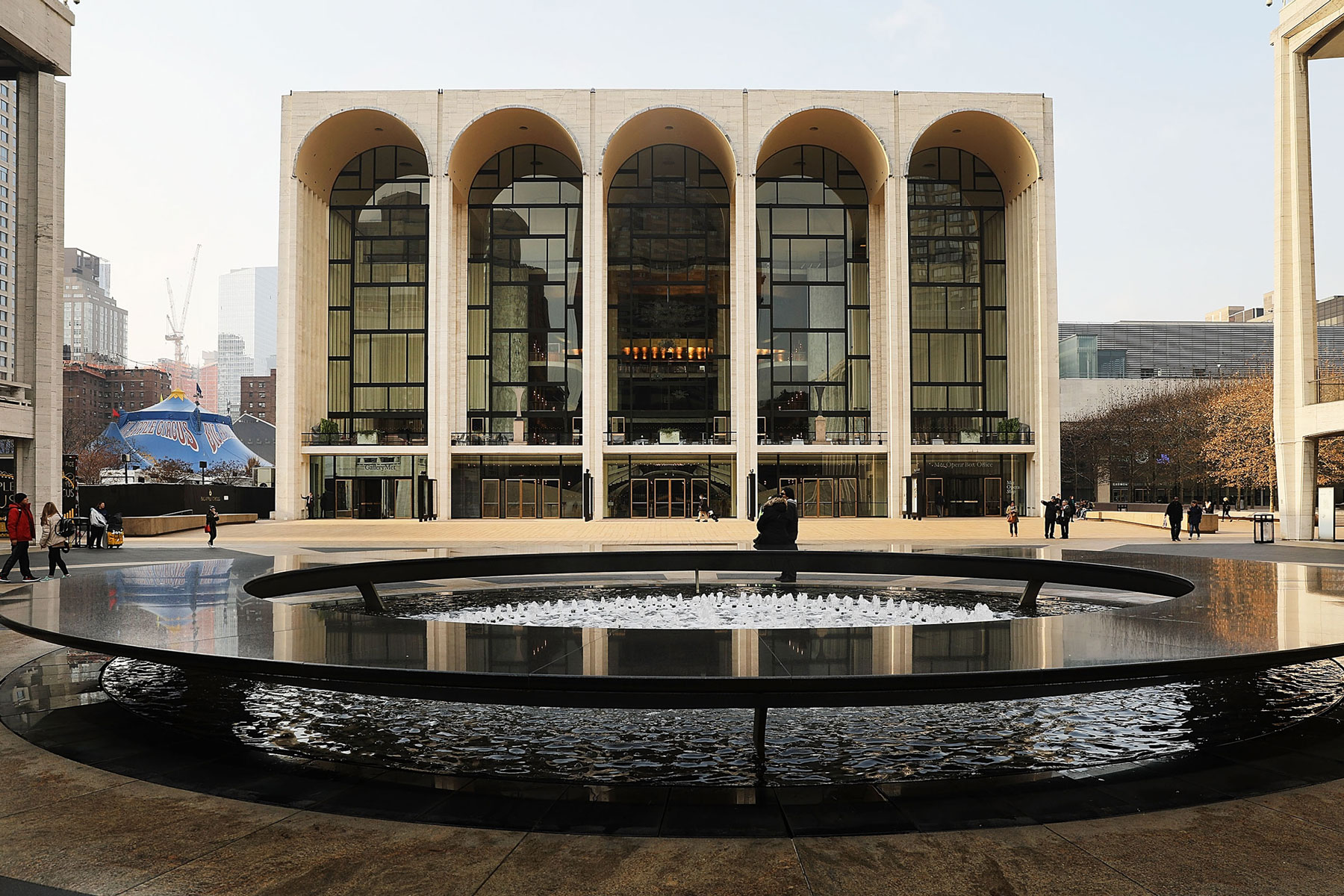 New York's Metropolitan Opera stands in Lincoln Center