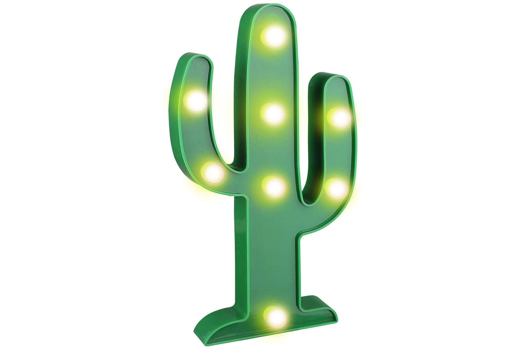 Green cactus shaped lamp