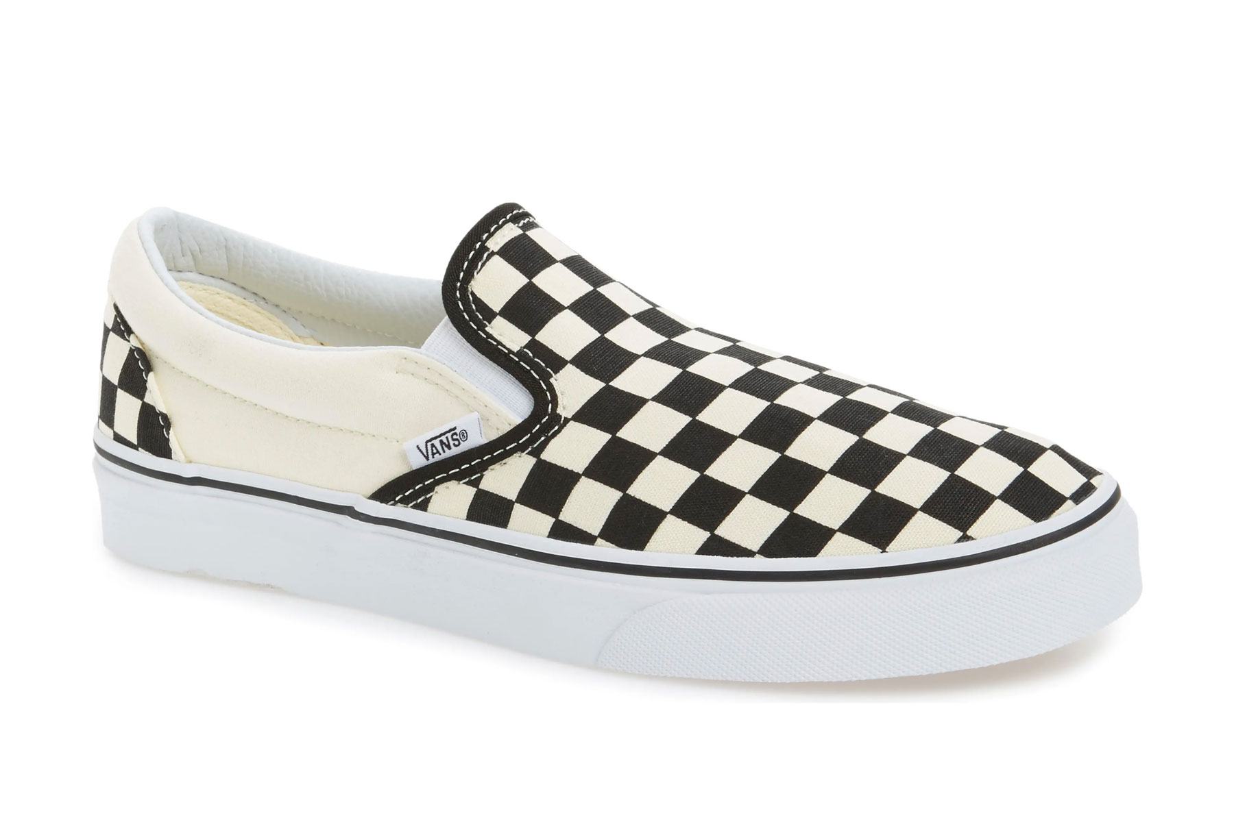 Checkered slip on Vans sneakers