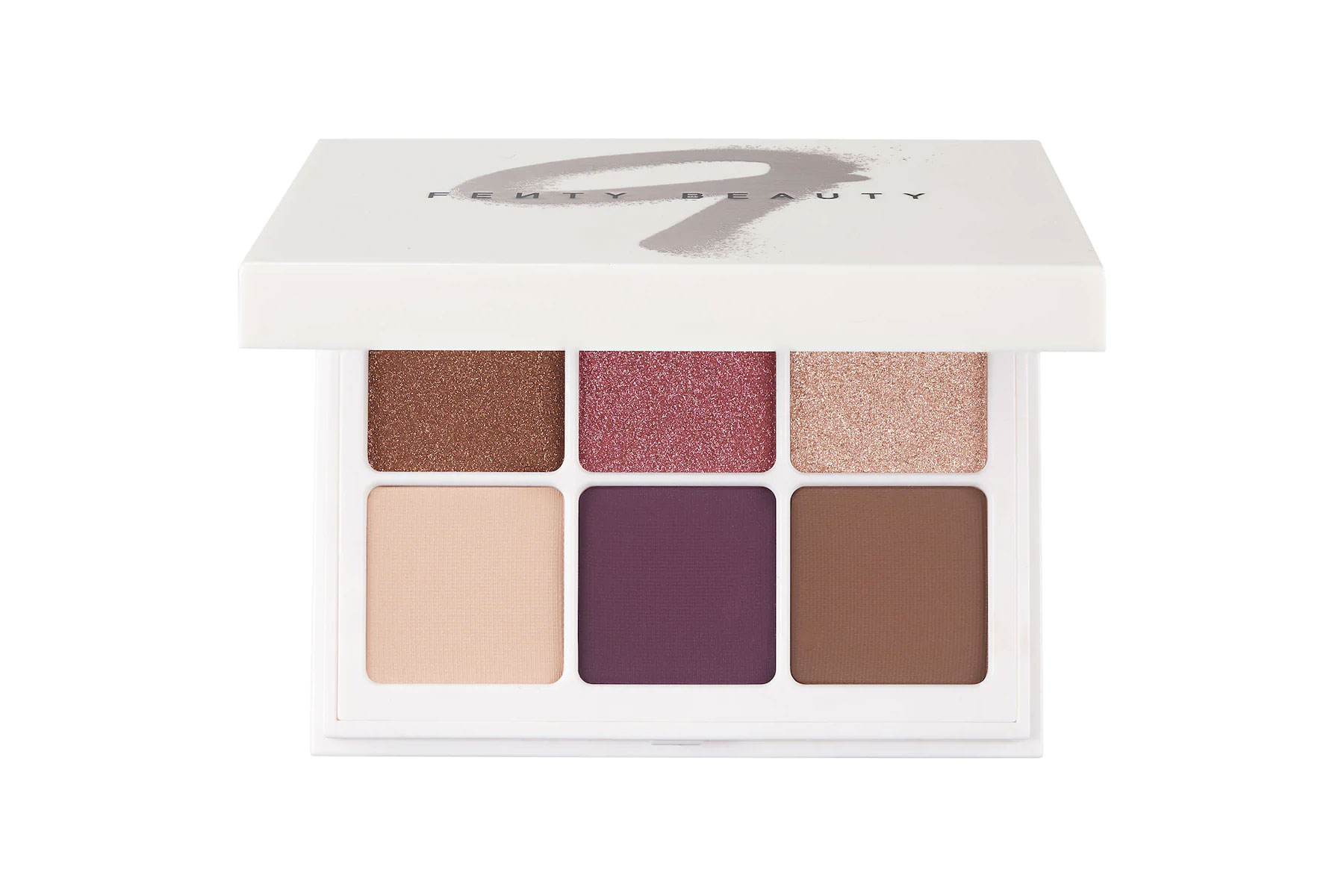 Purple, brown, and pink eyeshadow palette