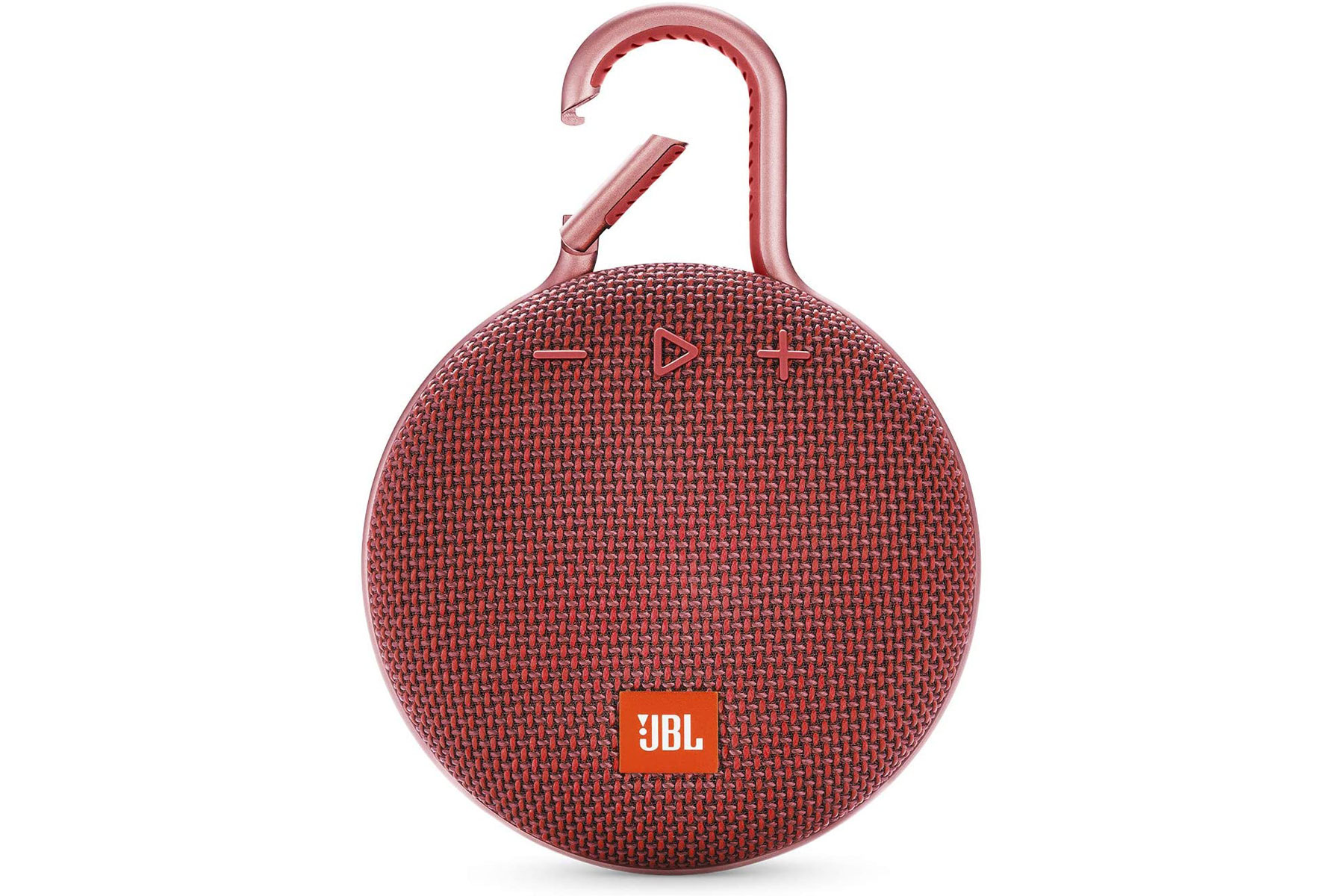 Red portable round speaker