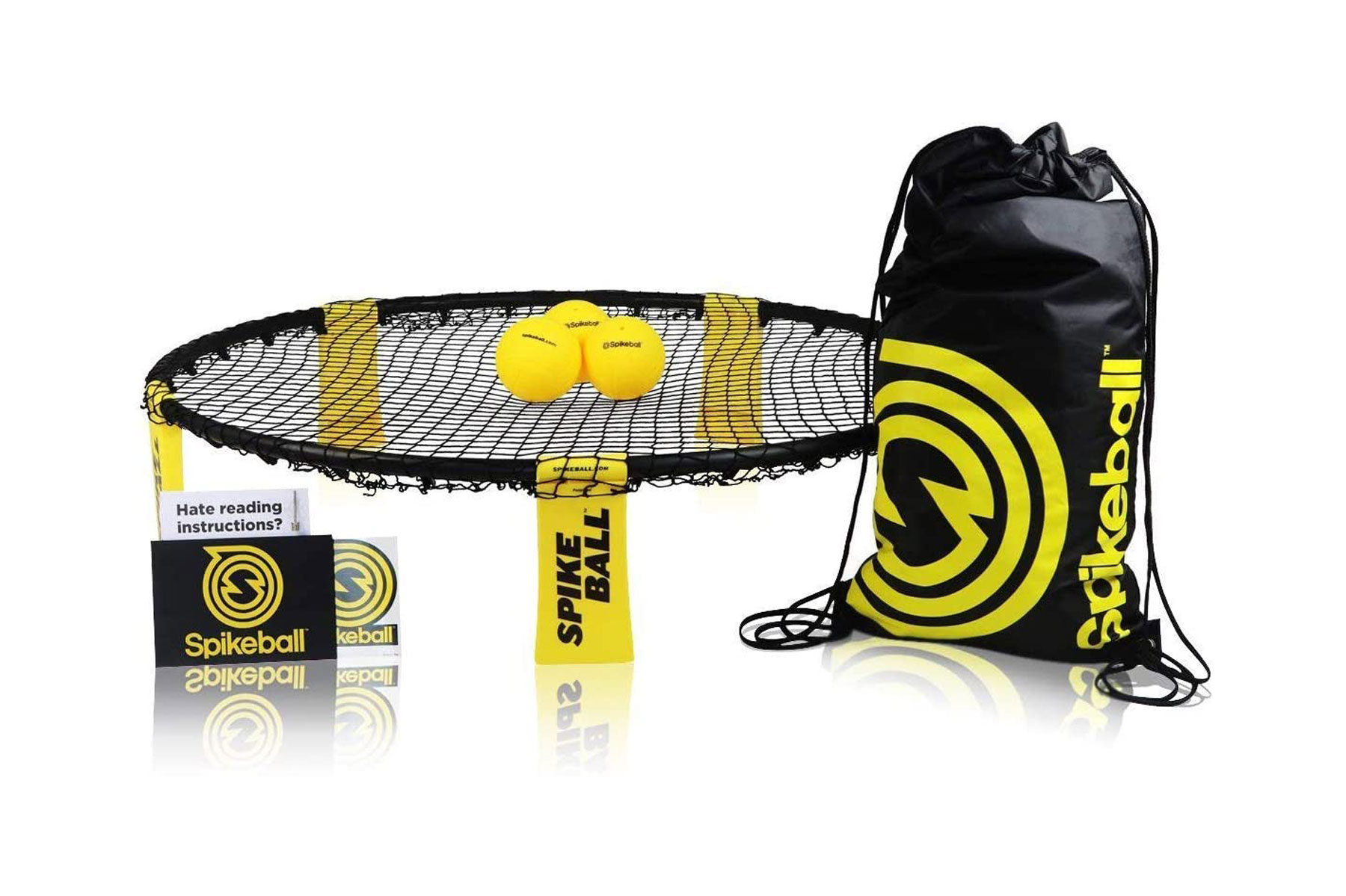 Black and yellow spikeball set