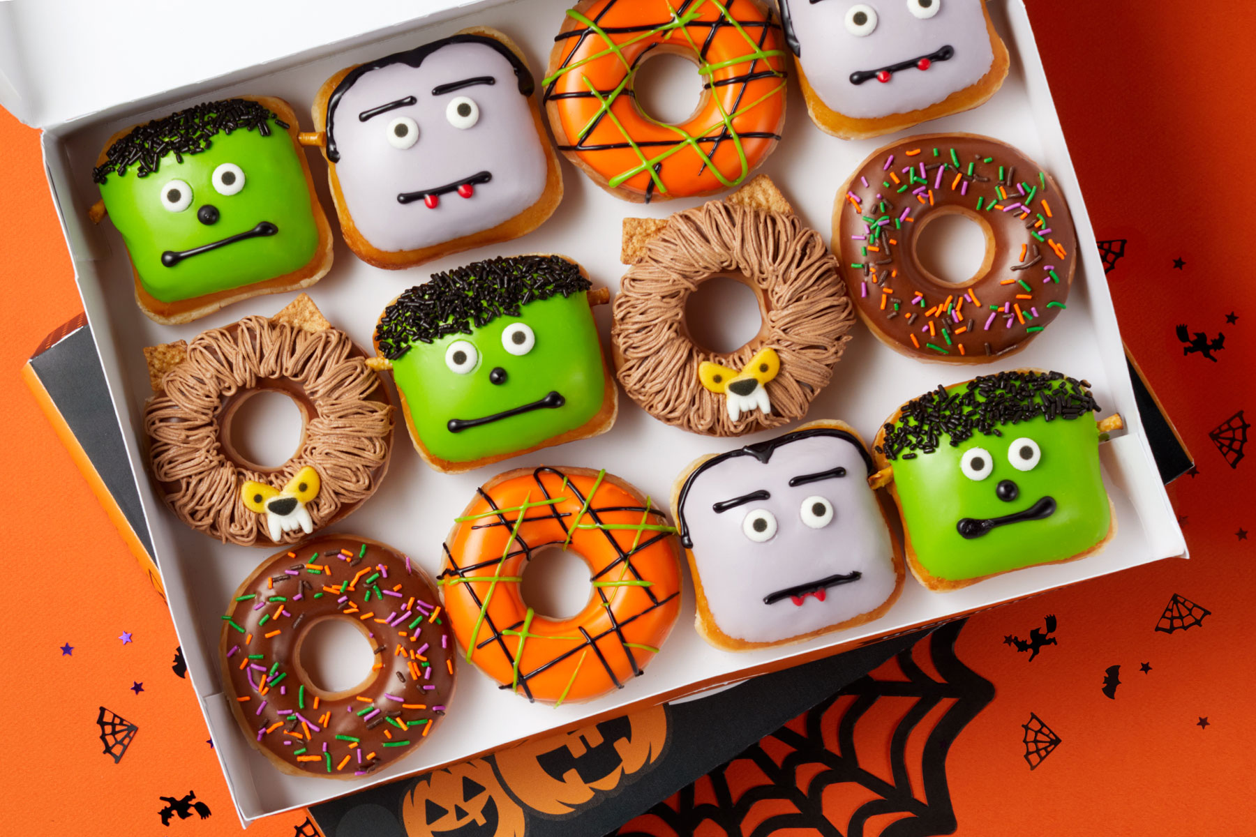 Krispy Kreme monster-themed doughnuts