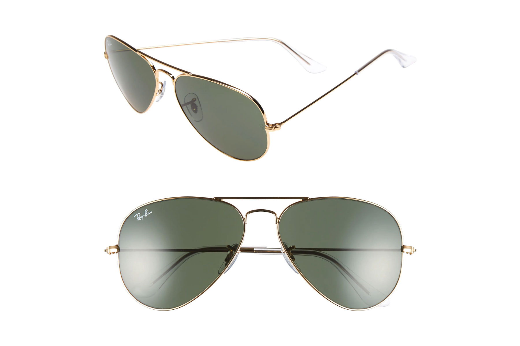 Ray-ban aviator sunglasses with gold