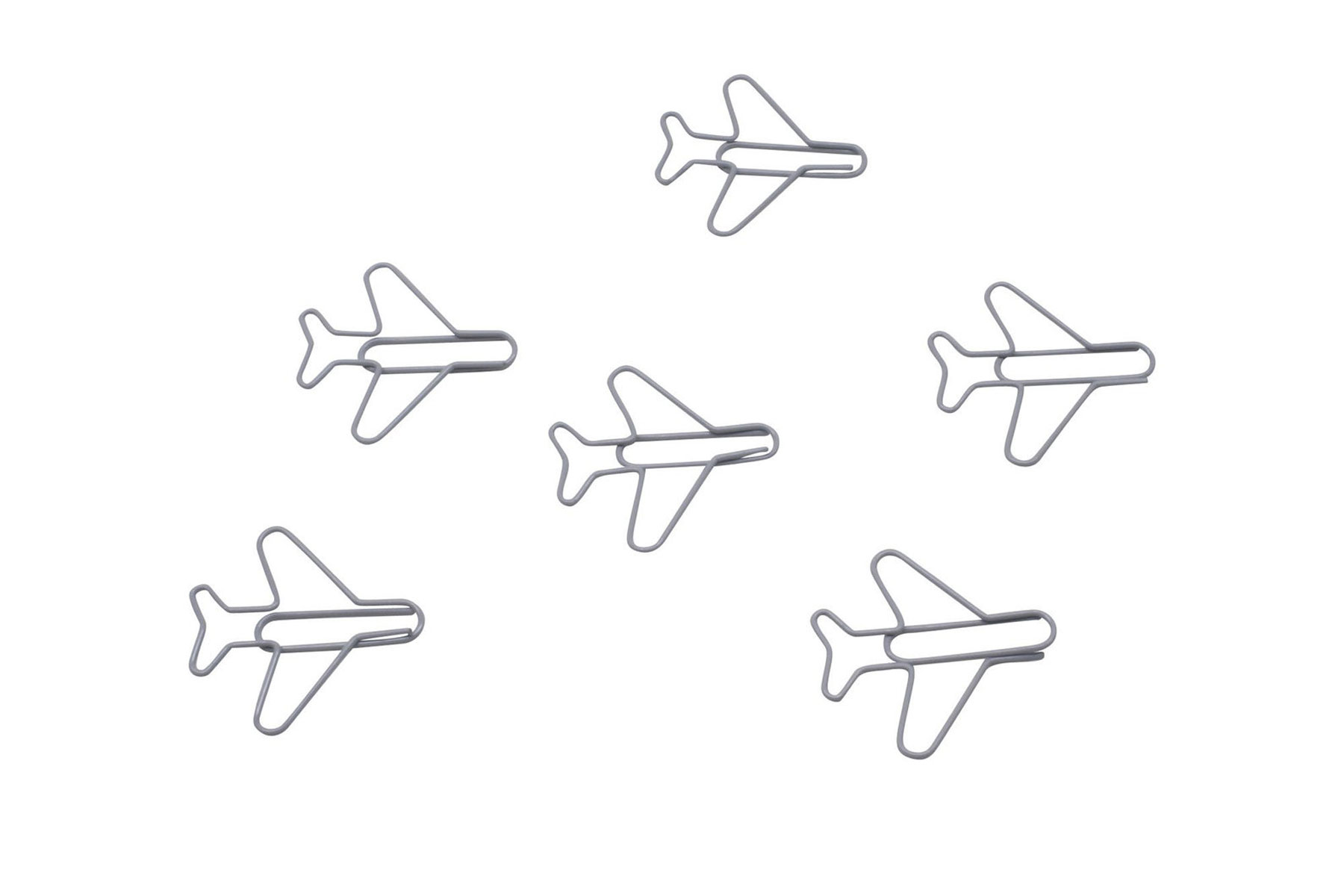 Airplane-shaped paper clips