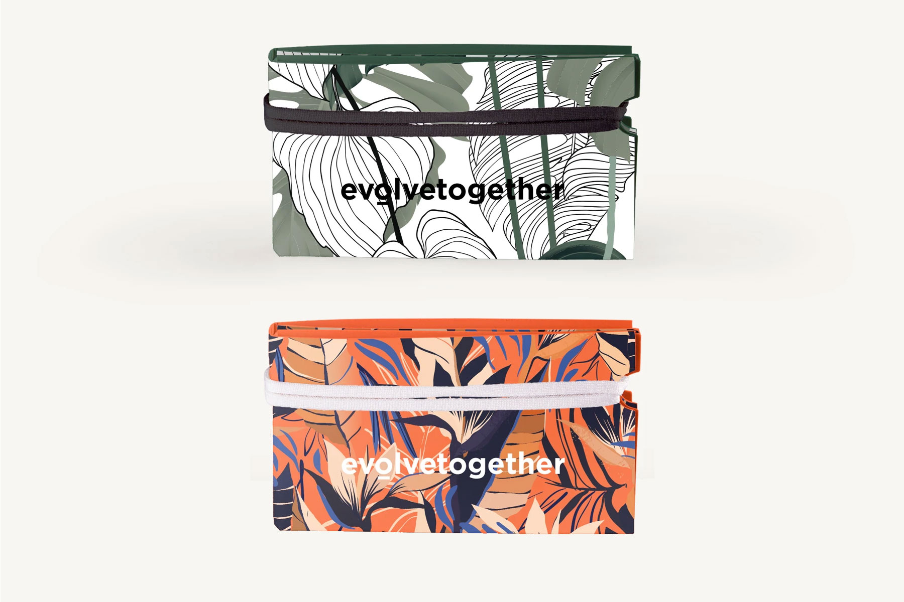 Various printed zippered pouches