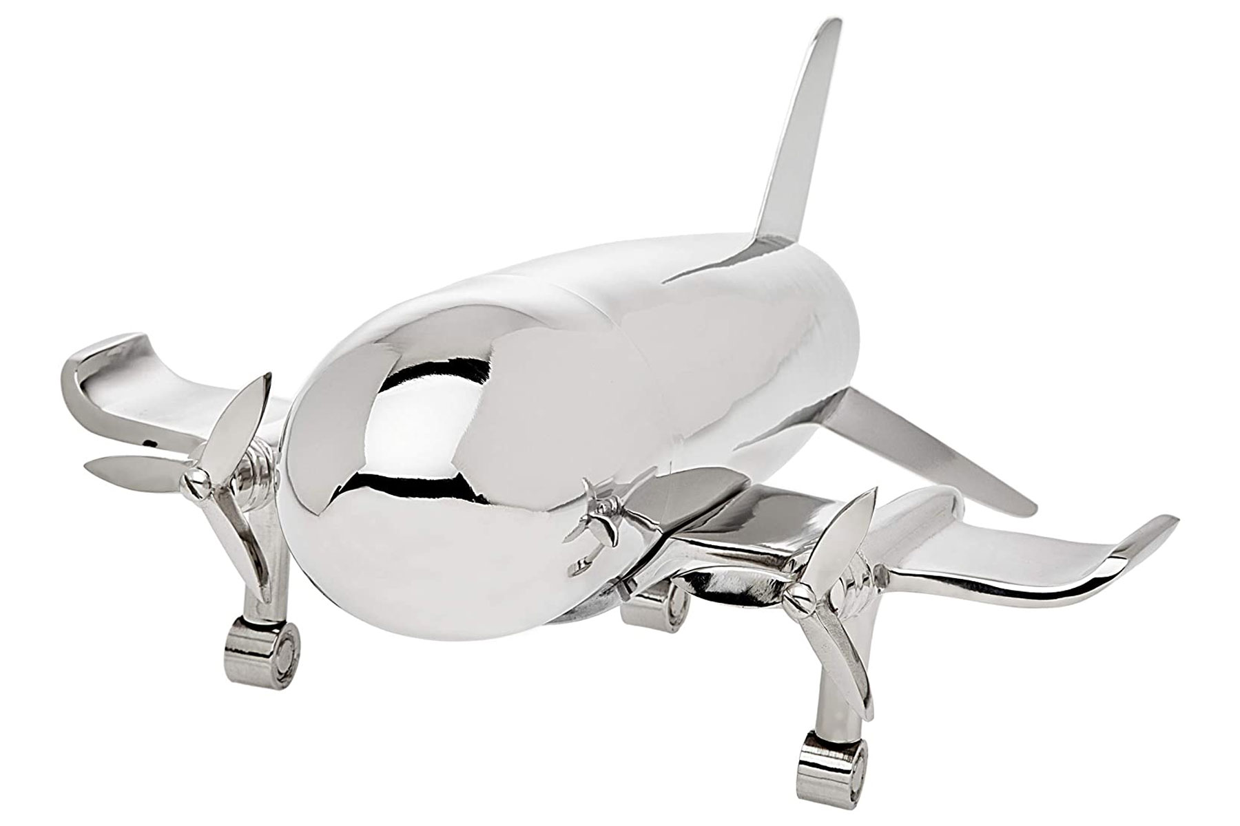 Stainless steel airplane shaped cocktail shaker