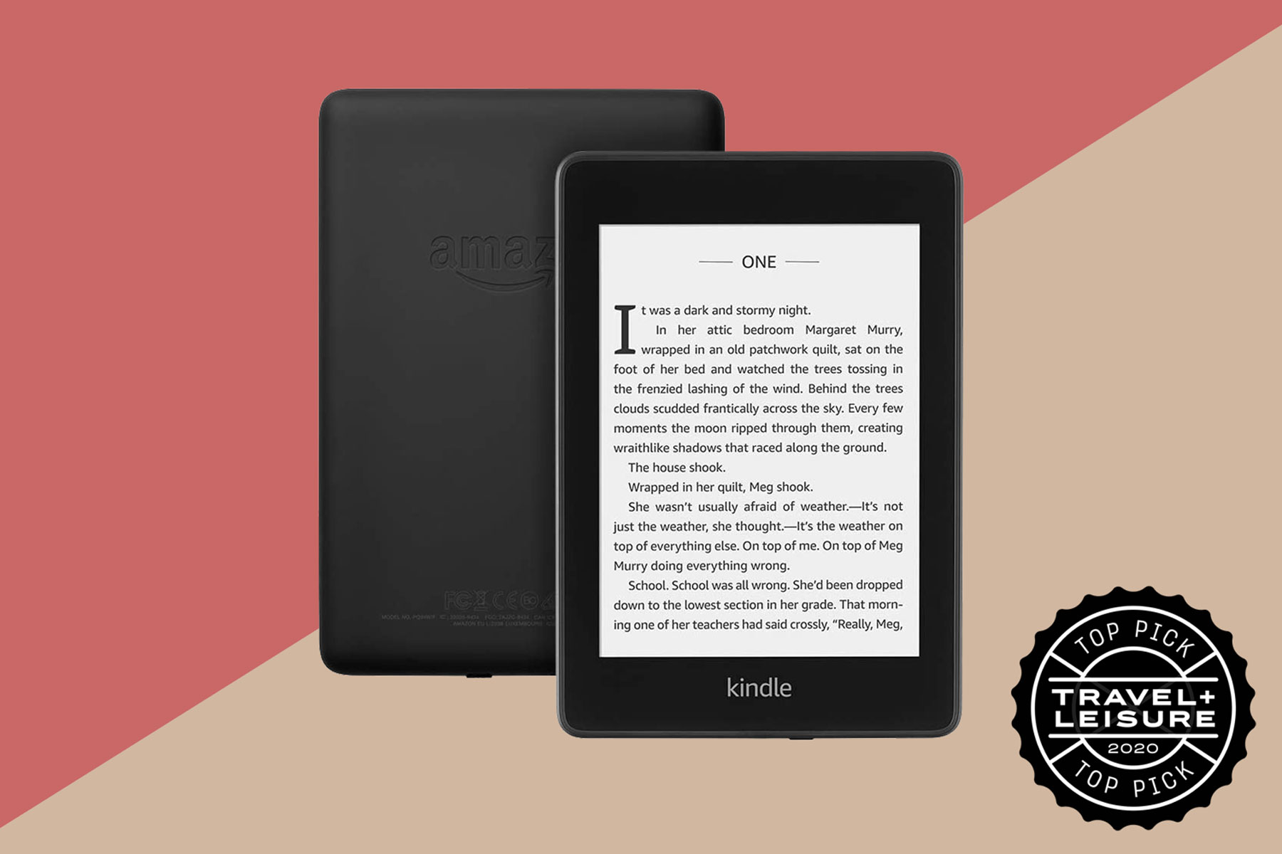 Black Amazon Kindle paperwhite e-reader