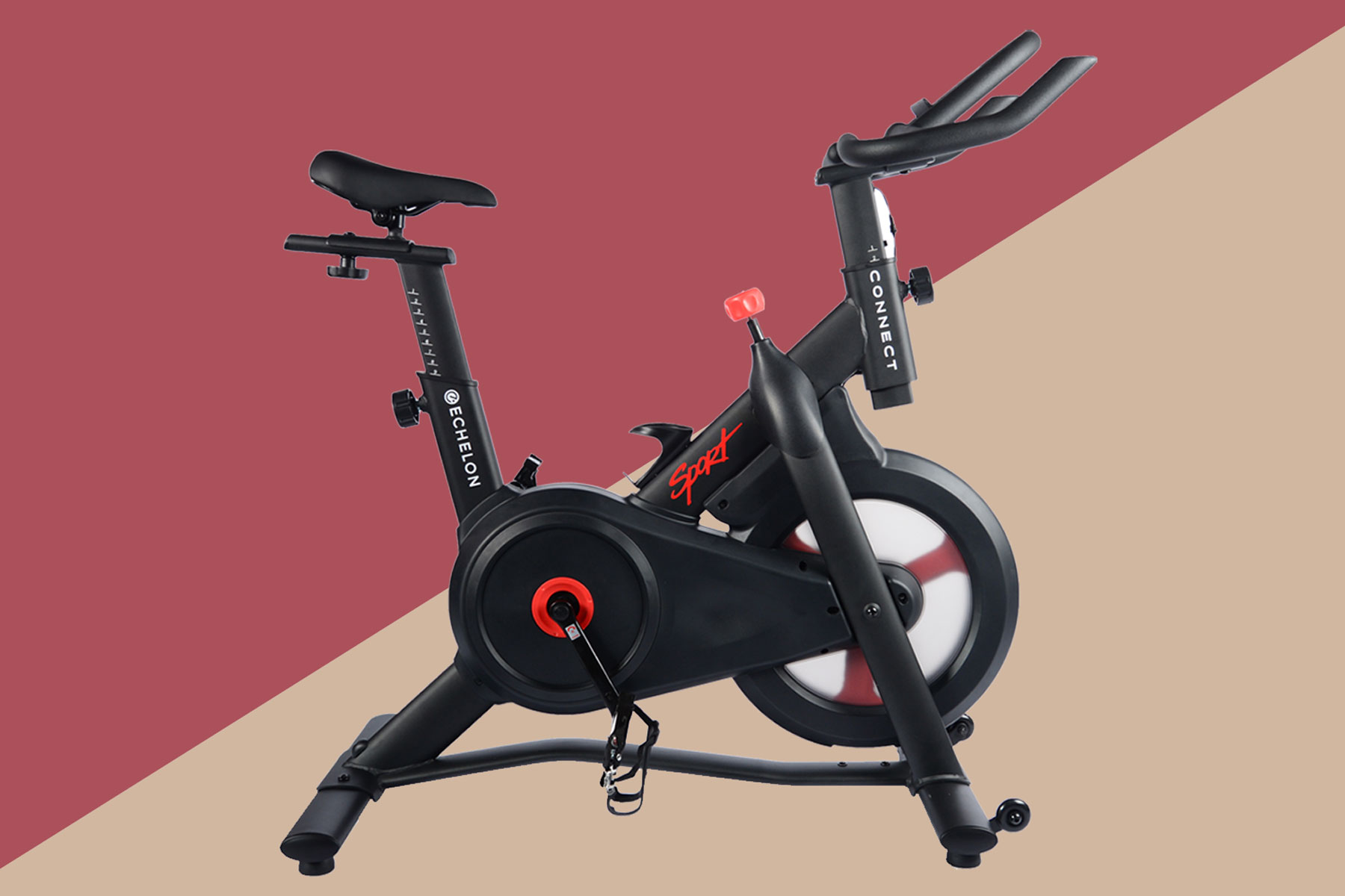 Black and red stationary bike