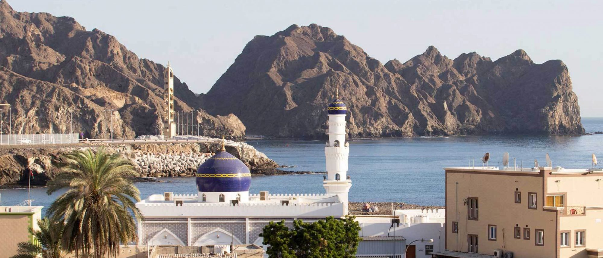 A partial view of the area of Haramil in the Omani capital Muscat.