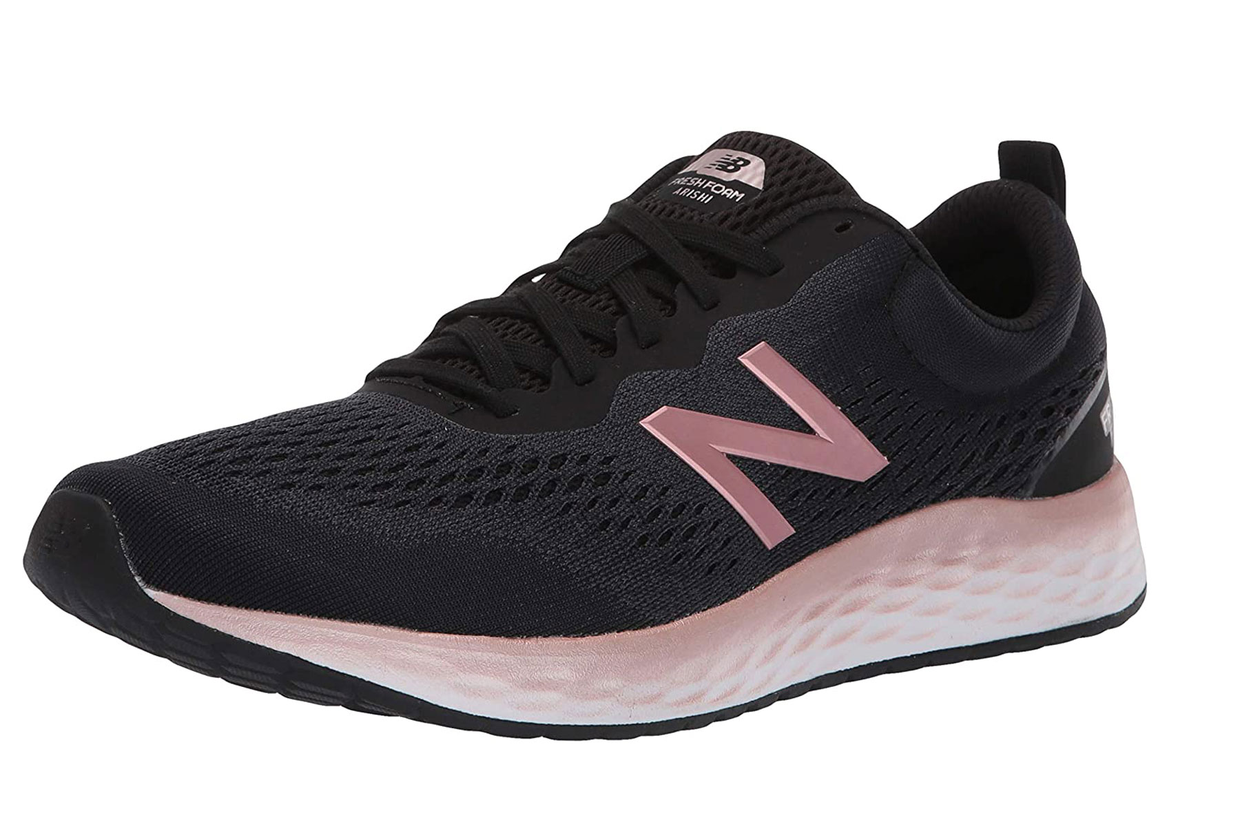 women's black and pink sneakers