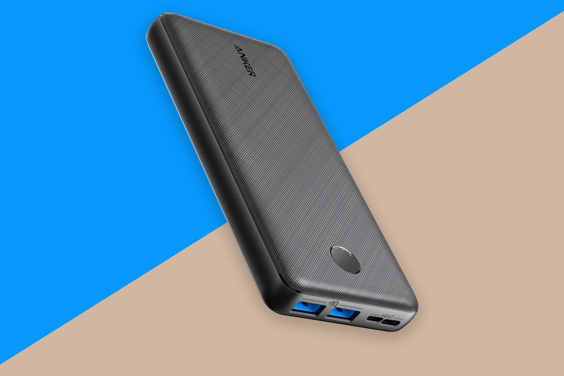 Black/grey portable charger