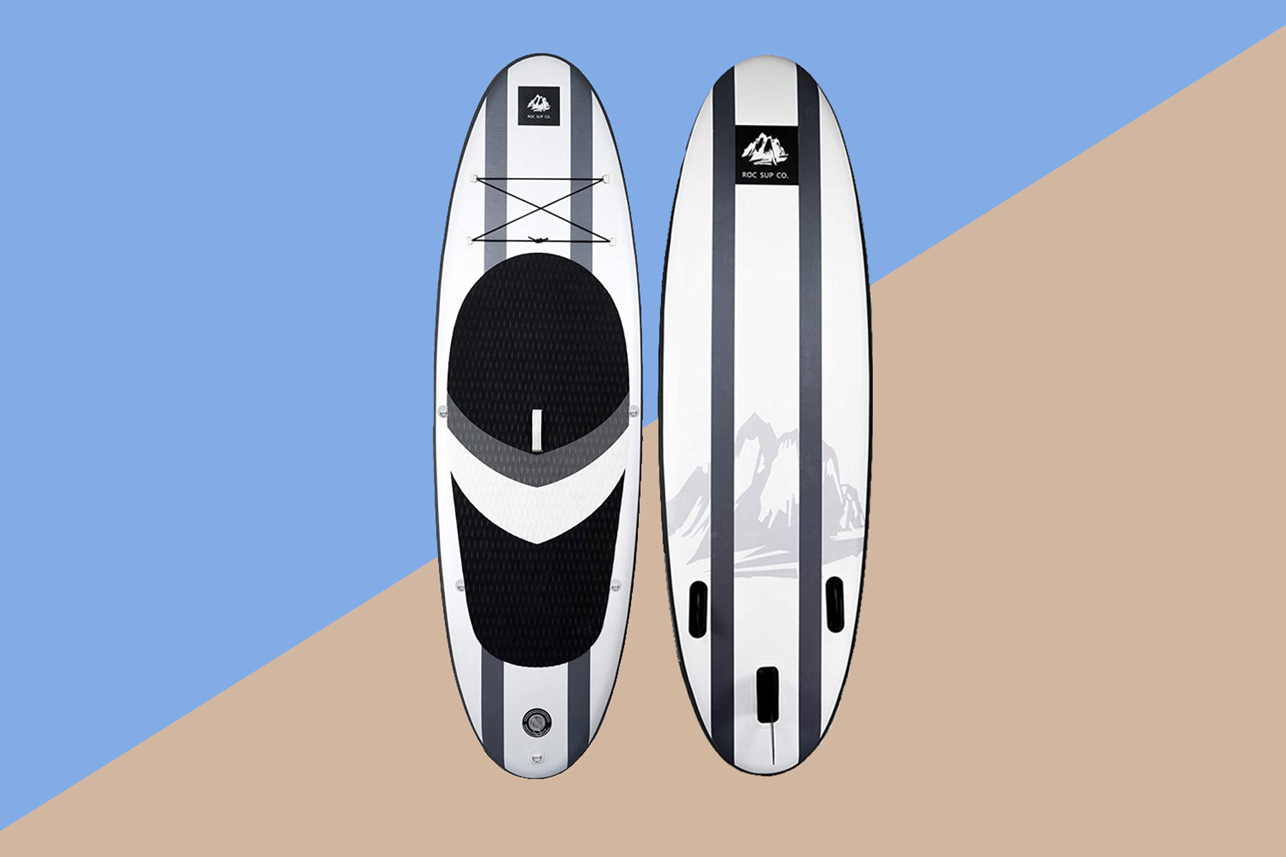 Black and white stand up paddle board