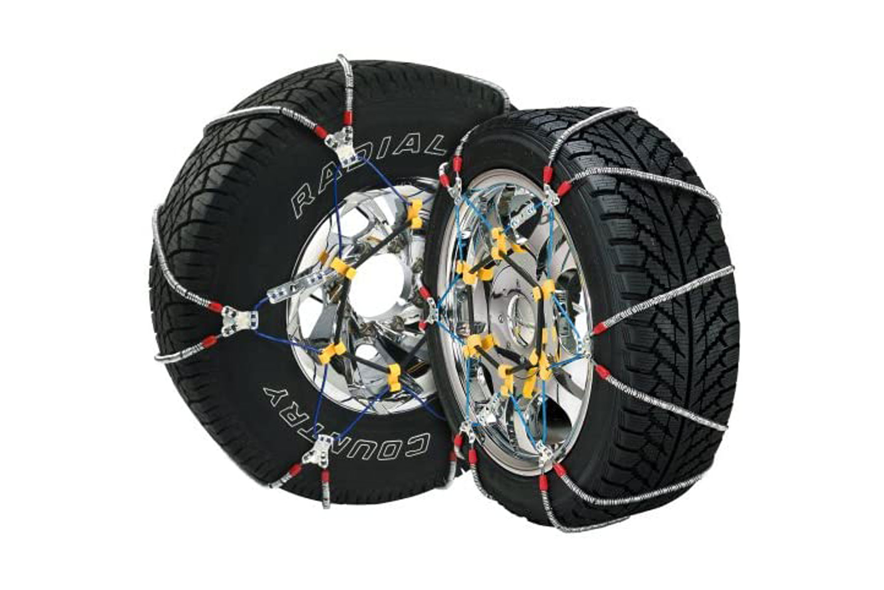 Snow tires chains