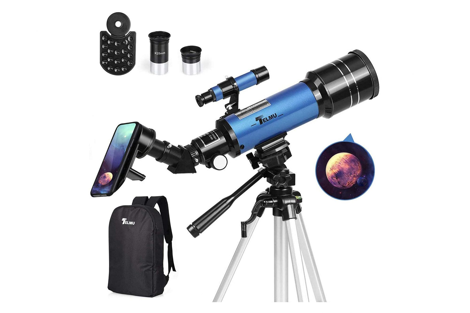telmu telescope with backpack