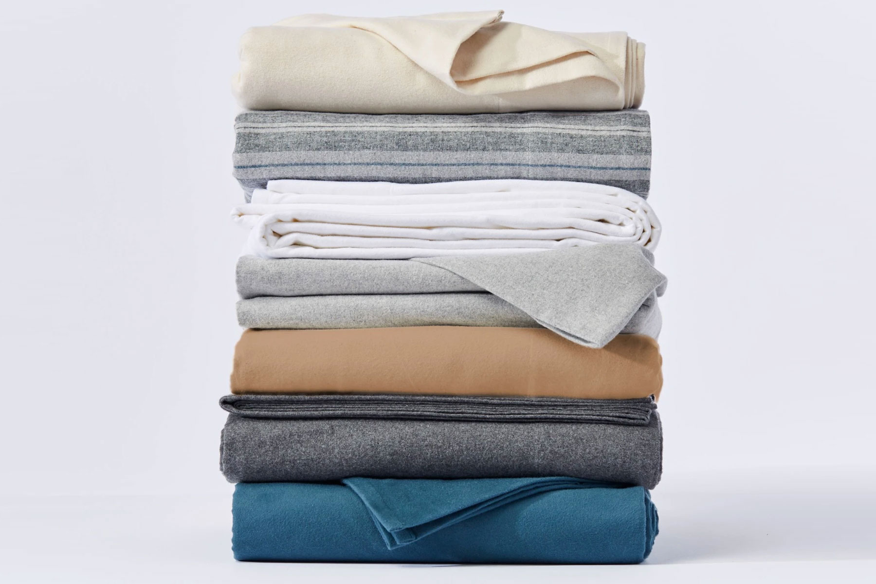 Various colors of flannel bedding/sheets