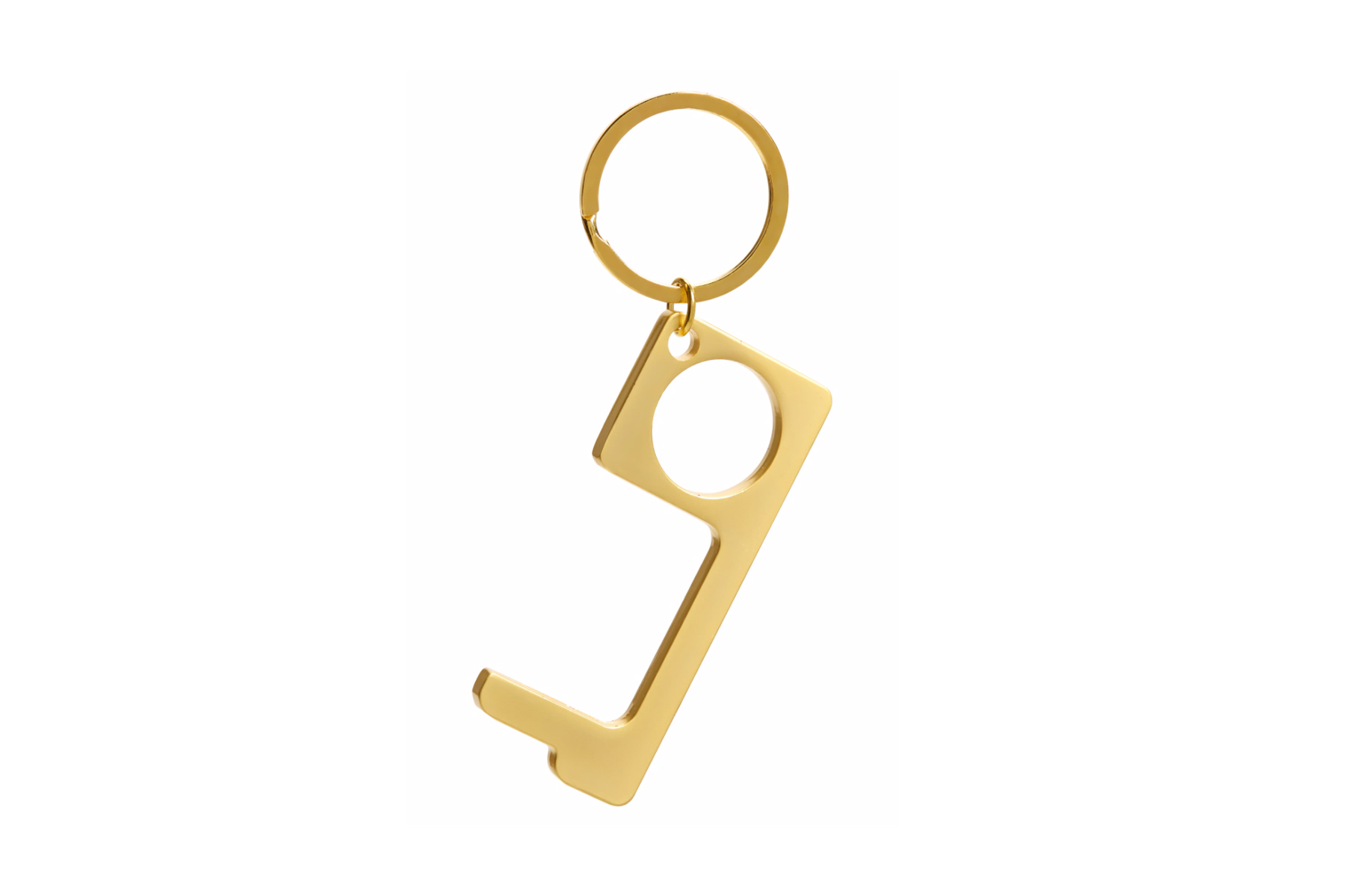 Protective keychain grabber in gold
