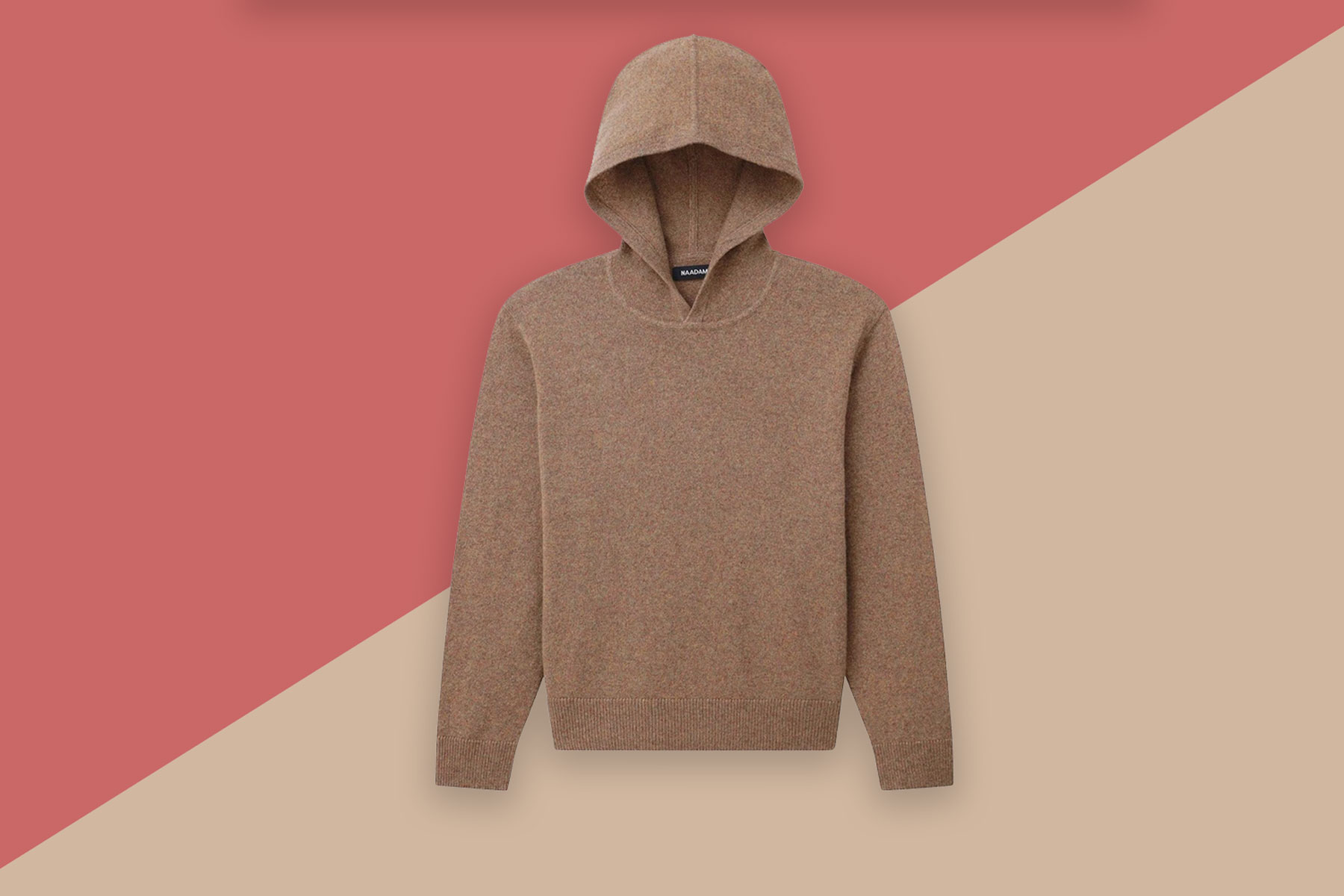 Brown cashmere hoodie