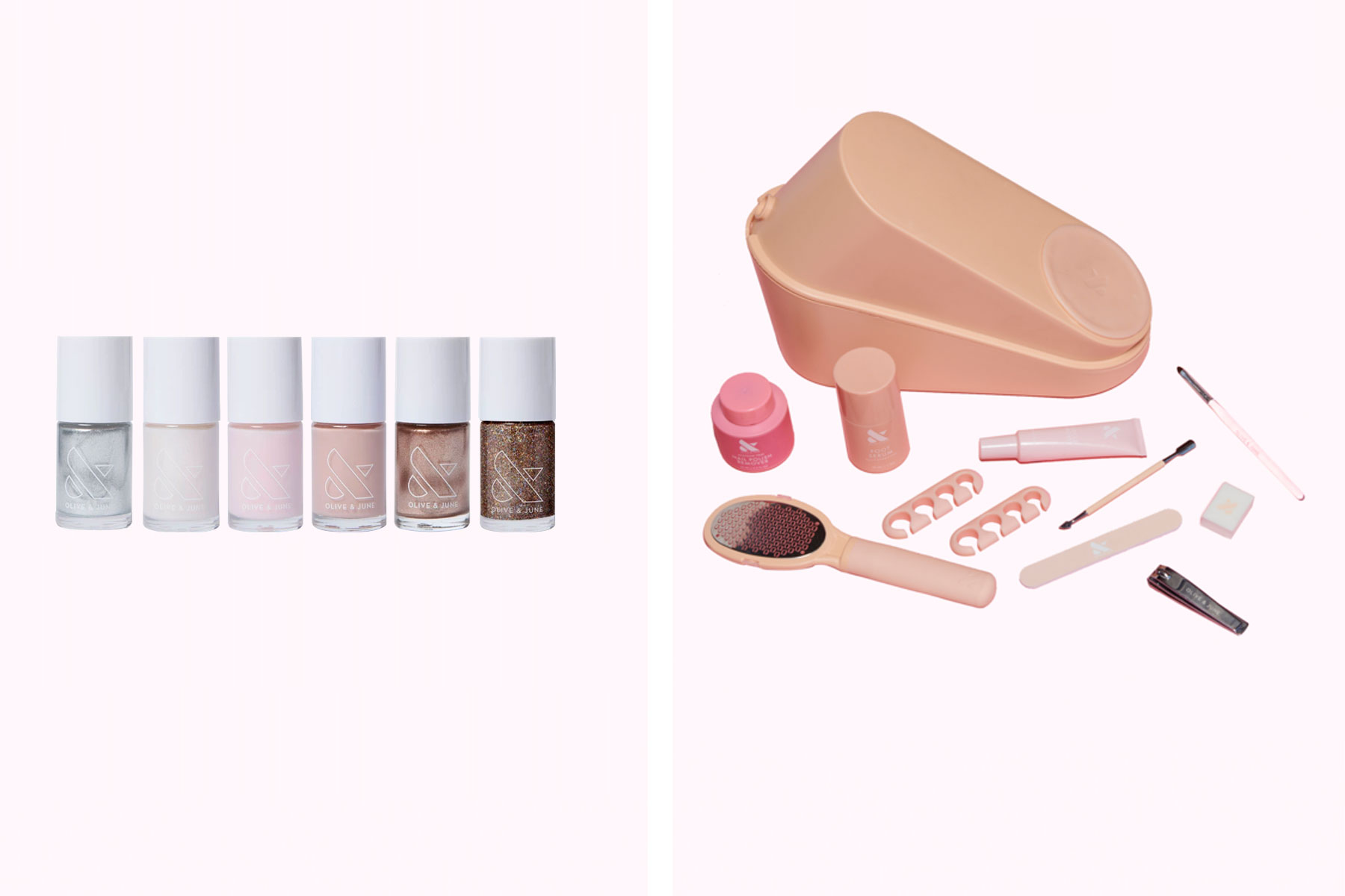 Nail polish and pedicure kit