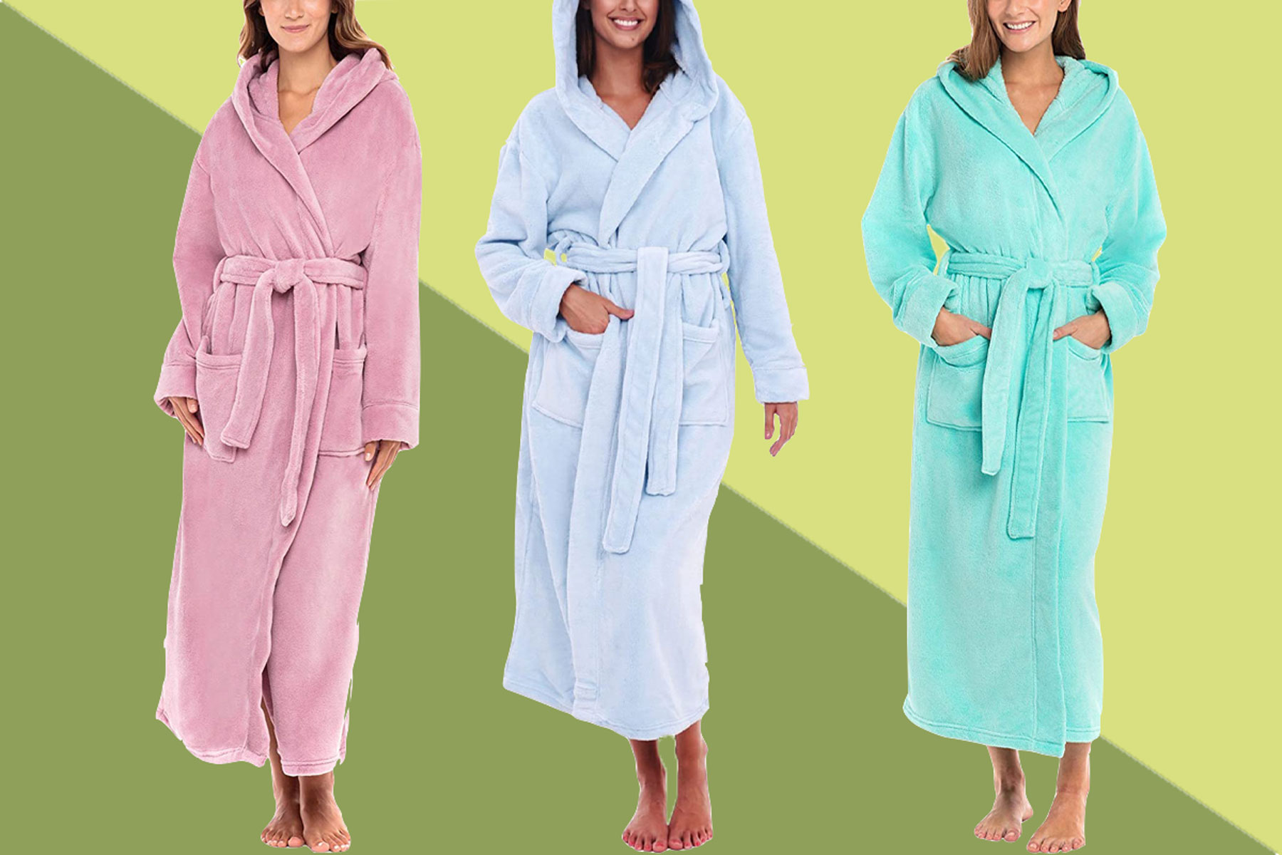 Alexander Del Rossa Women's Plush Fleece Robe