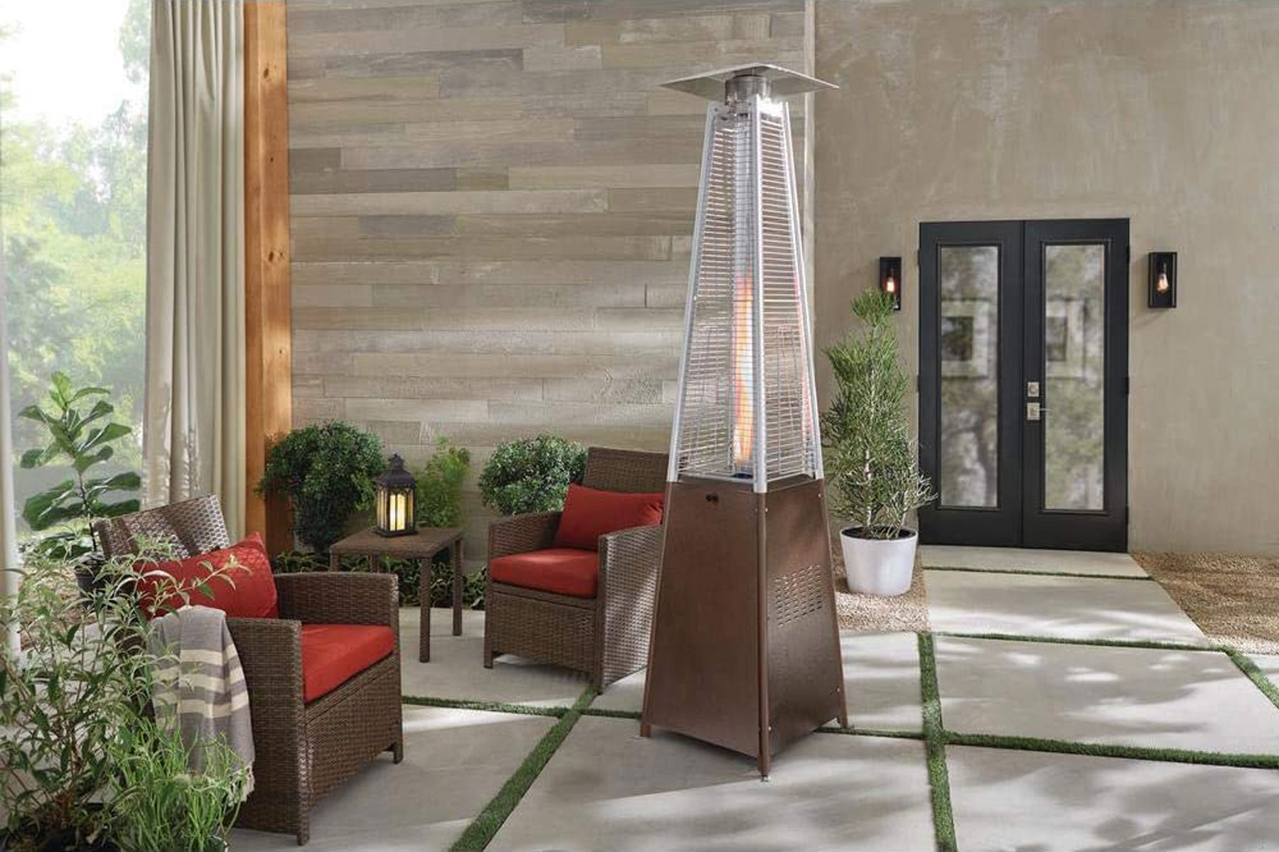 Outdoor heater on patio