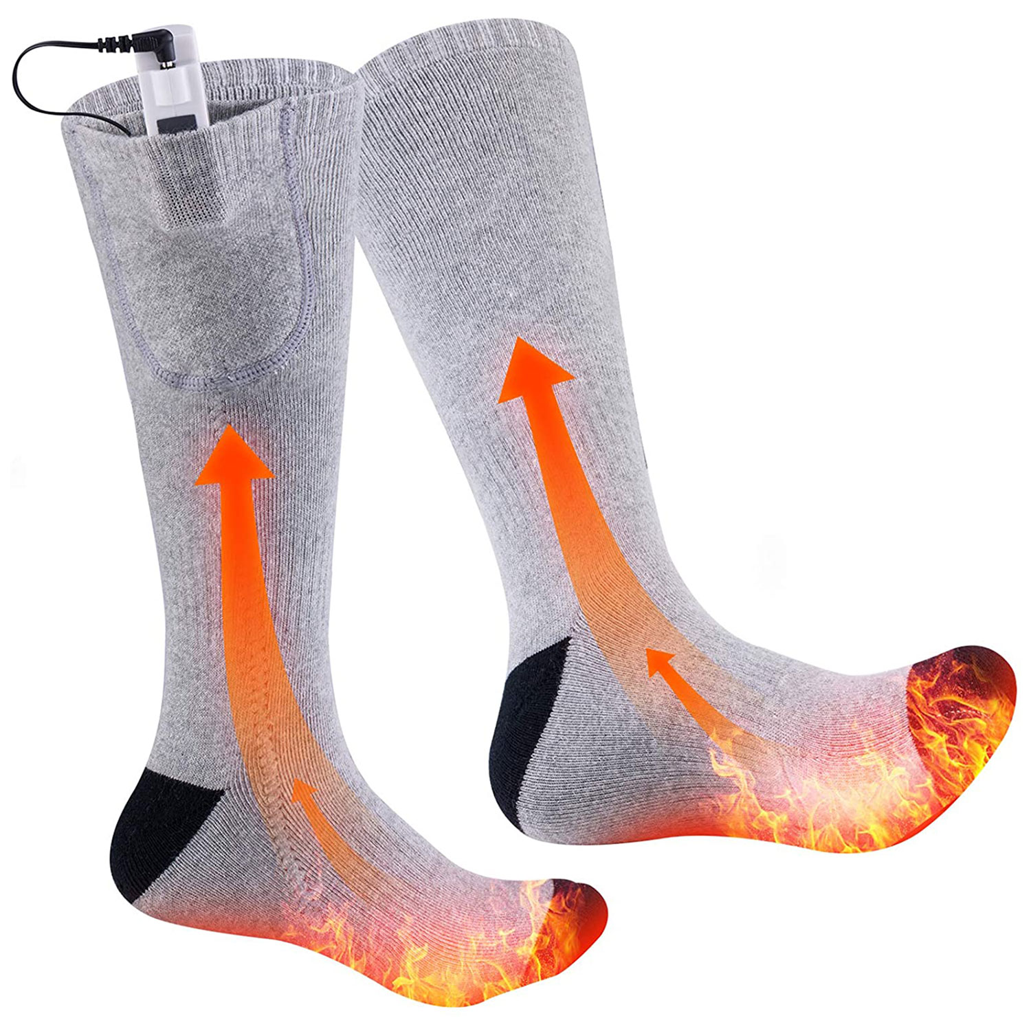 heated sock double sided camping foot warmer thermal winter cotton