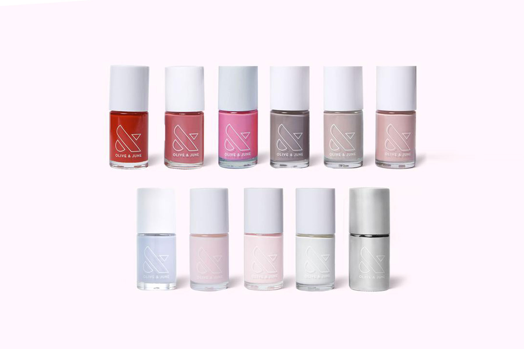 Various colors of nail polish