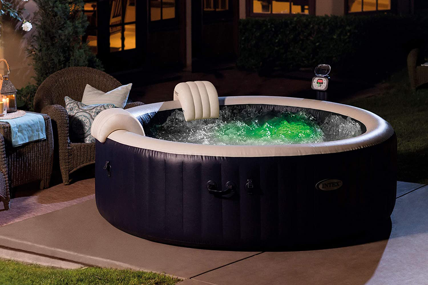 outdoor inflatable hot tub