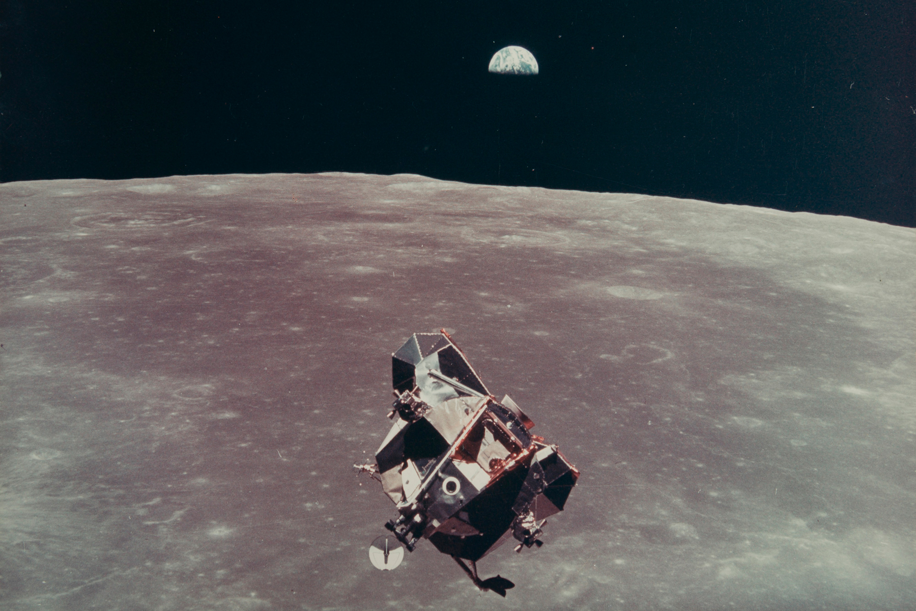 LM Eagle and Earthrise, July 16-24, 1969, MICHAEL COLLINS [APOLLO 11]