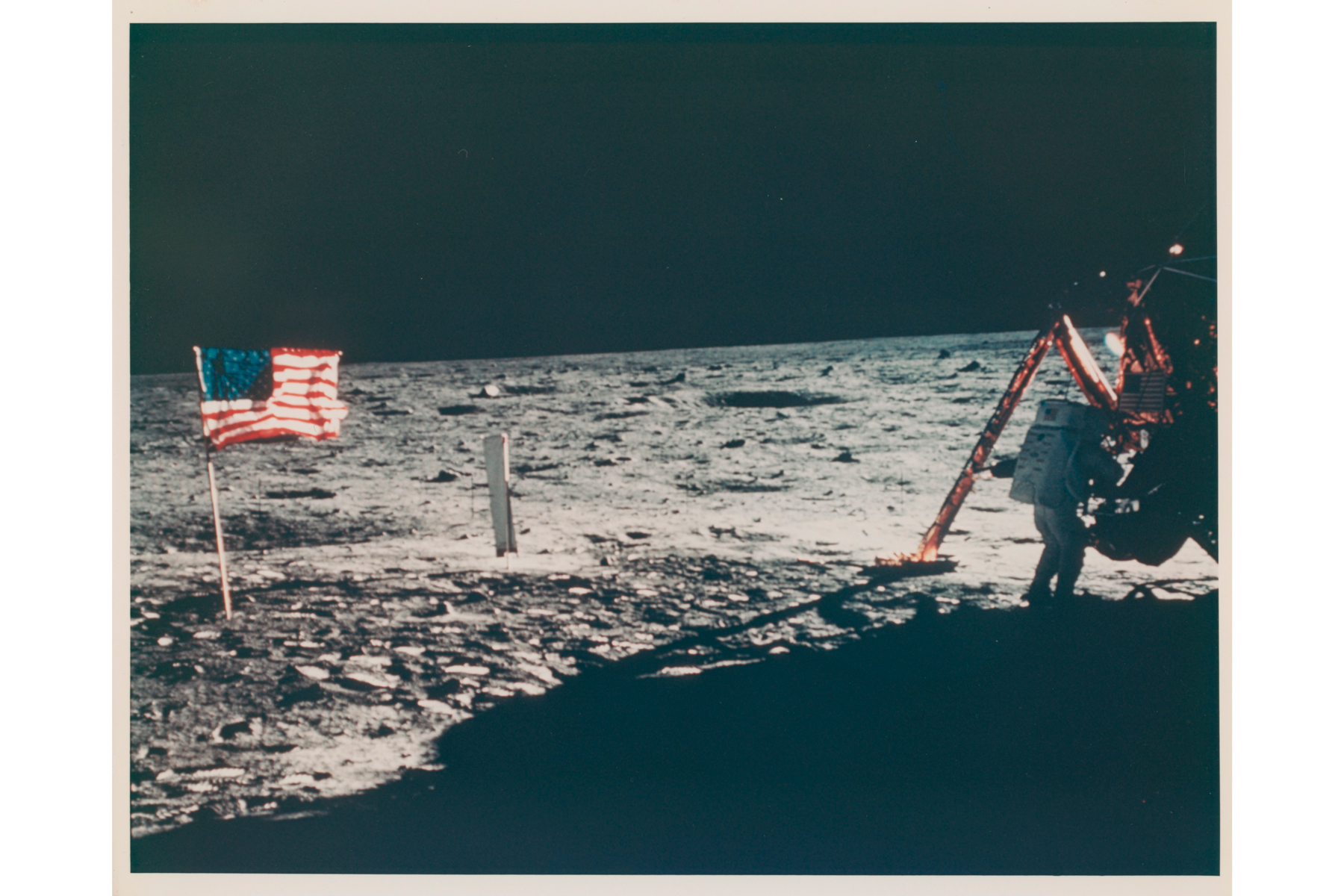 Lot 345, The only photograph of Neil Armstrong on the Moon, July 16-24,1969. BUZZ ALDRIN [APOLLO 11]. Estimate: £30,000-50,000