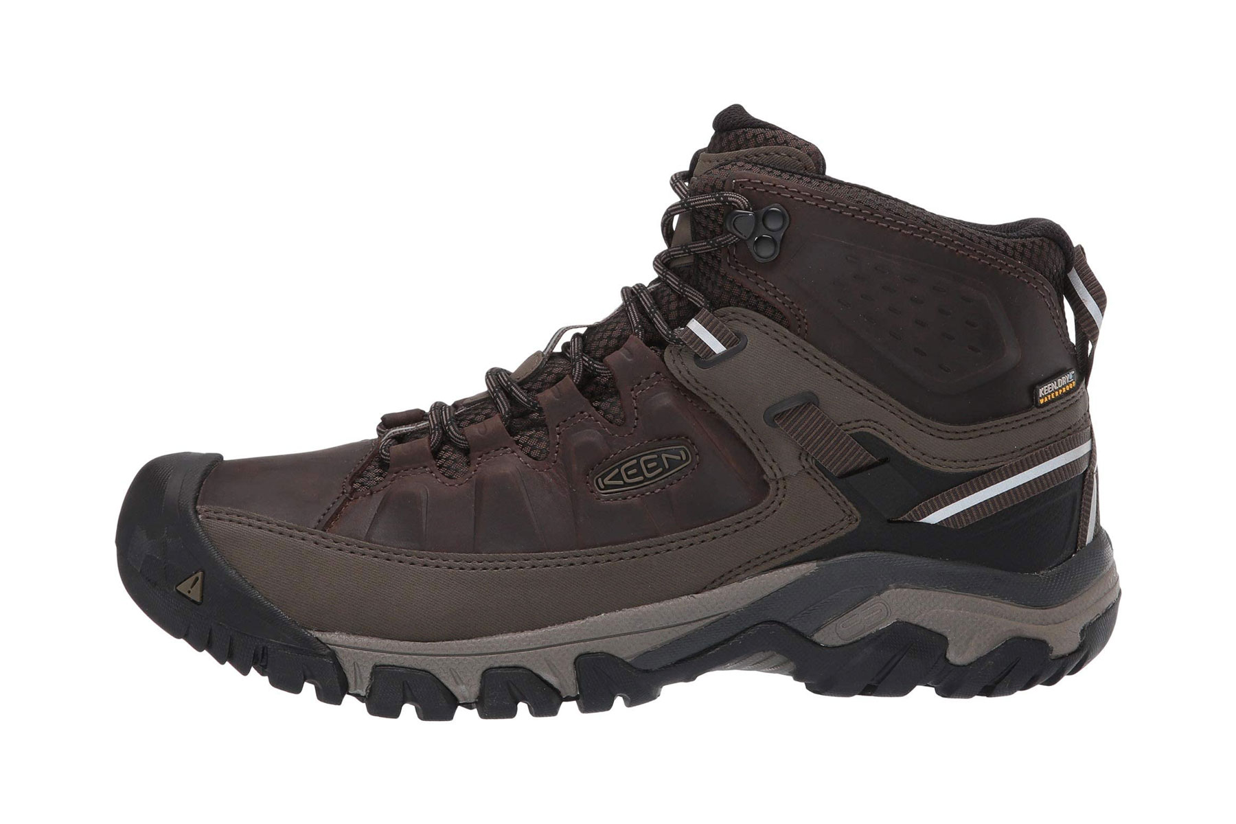 Men's brown and black hiking boot