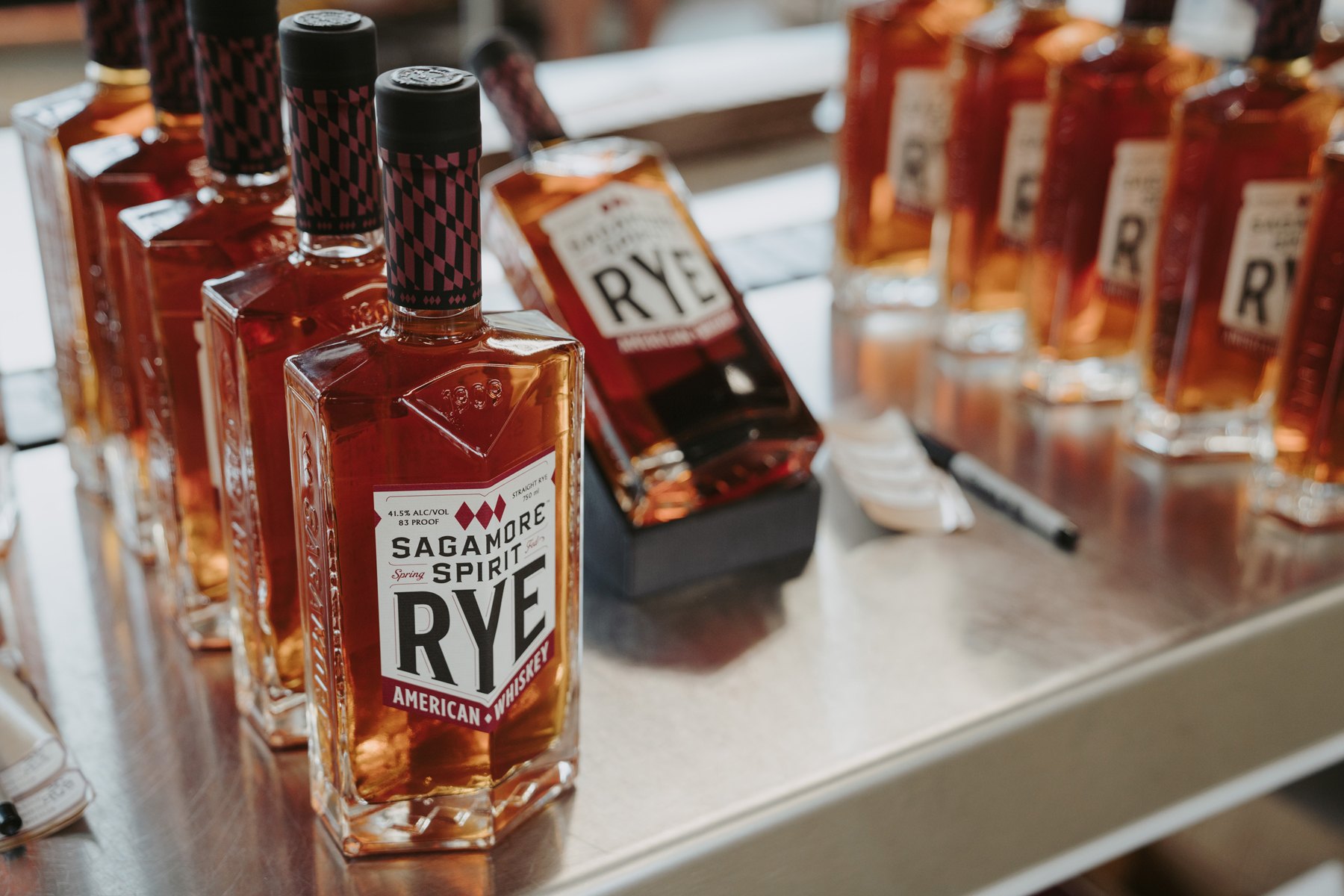 Bottles of Sagamore Spirit's Rye Whiskey