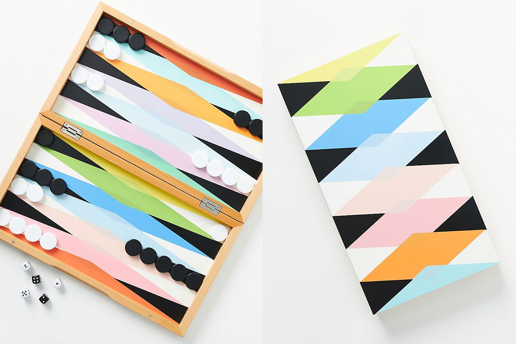 Colorful backgammon game