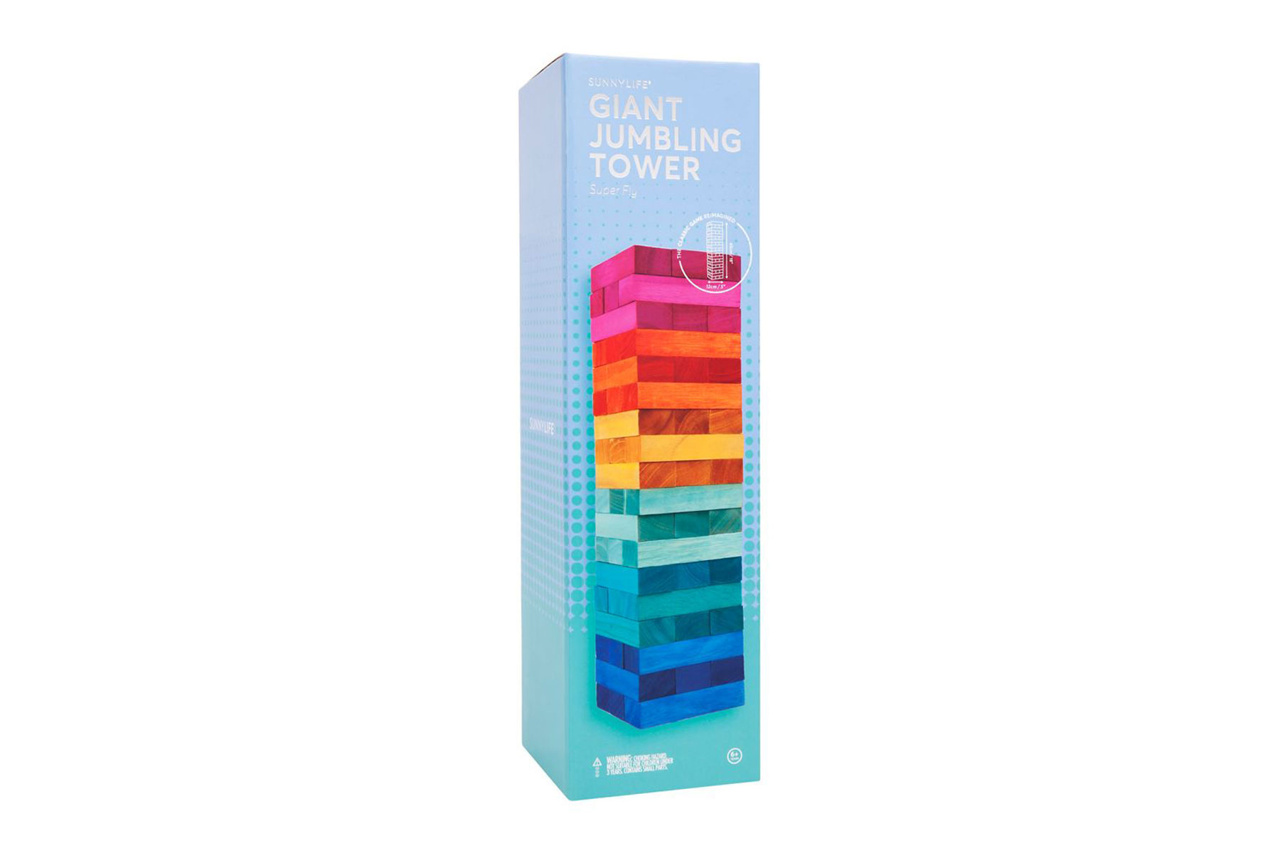 Colorful jumbling tower game
