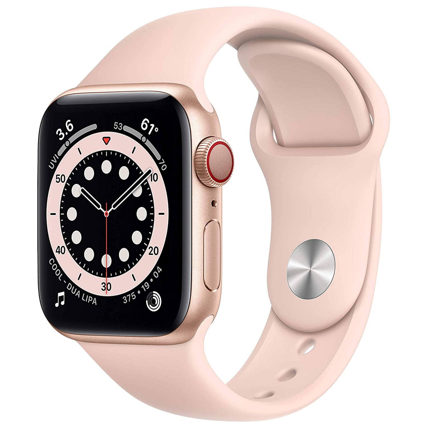 apple watch series 6 gps and cellular 40mm gold aluminum