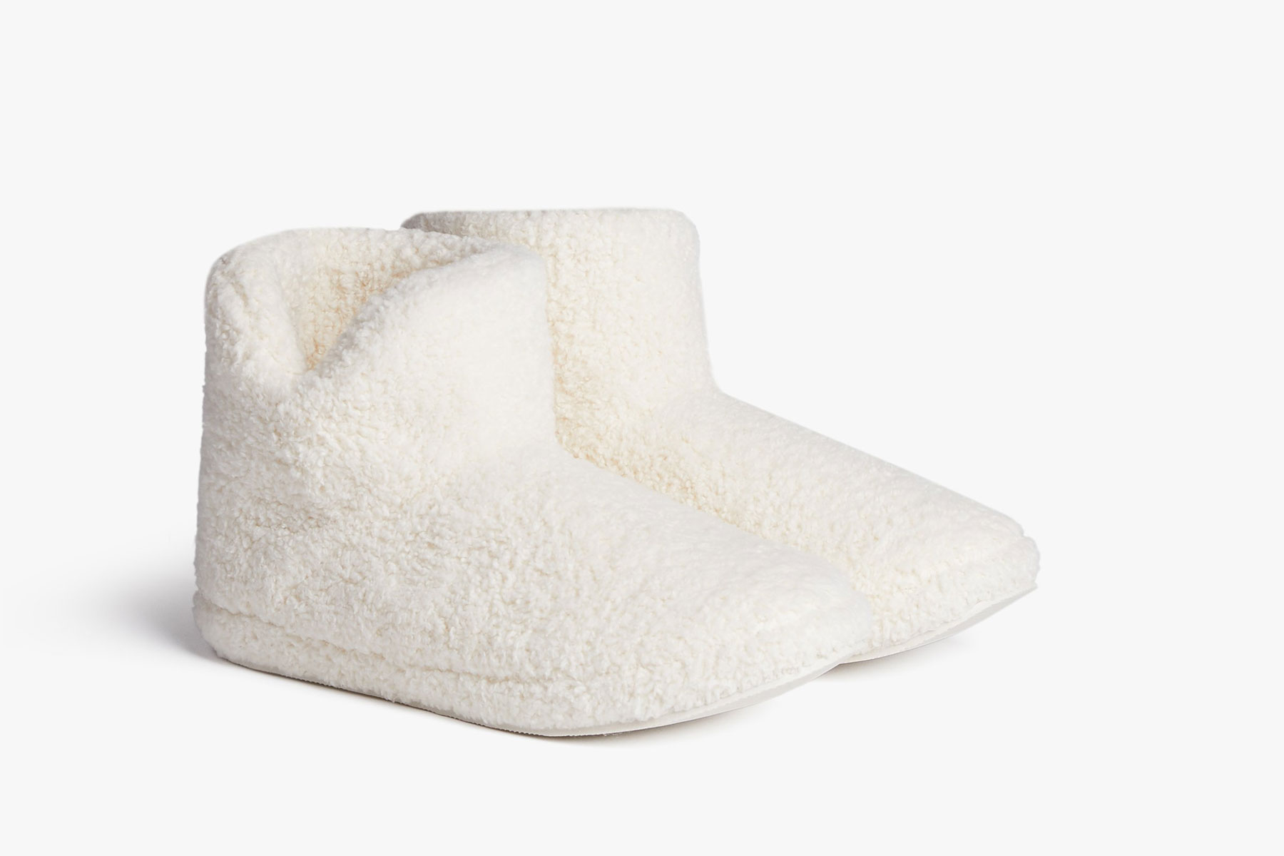 White slipper booties