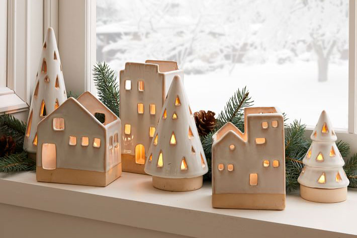 tealight houses west elm holiday cyber monday ceramic