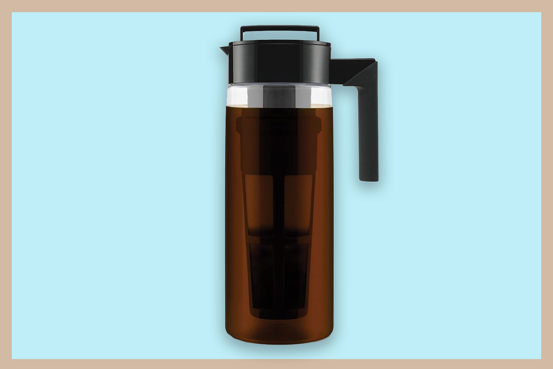 Black and clear coffee pitcher
